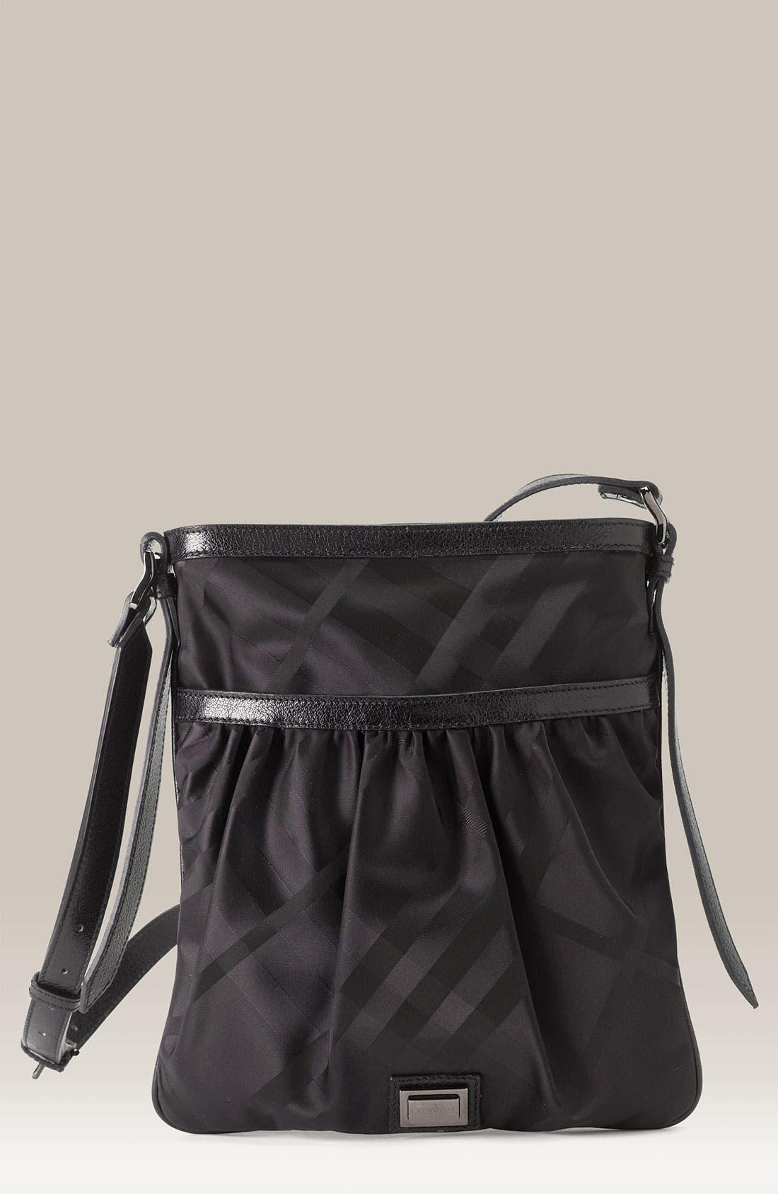 Nylon Crossbody Bag,                             Main thumbnail 1, color,                             001
