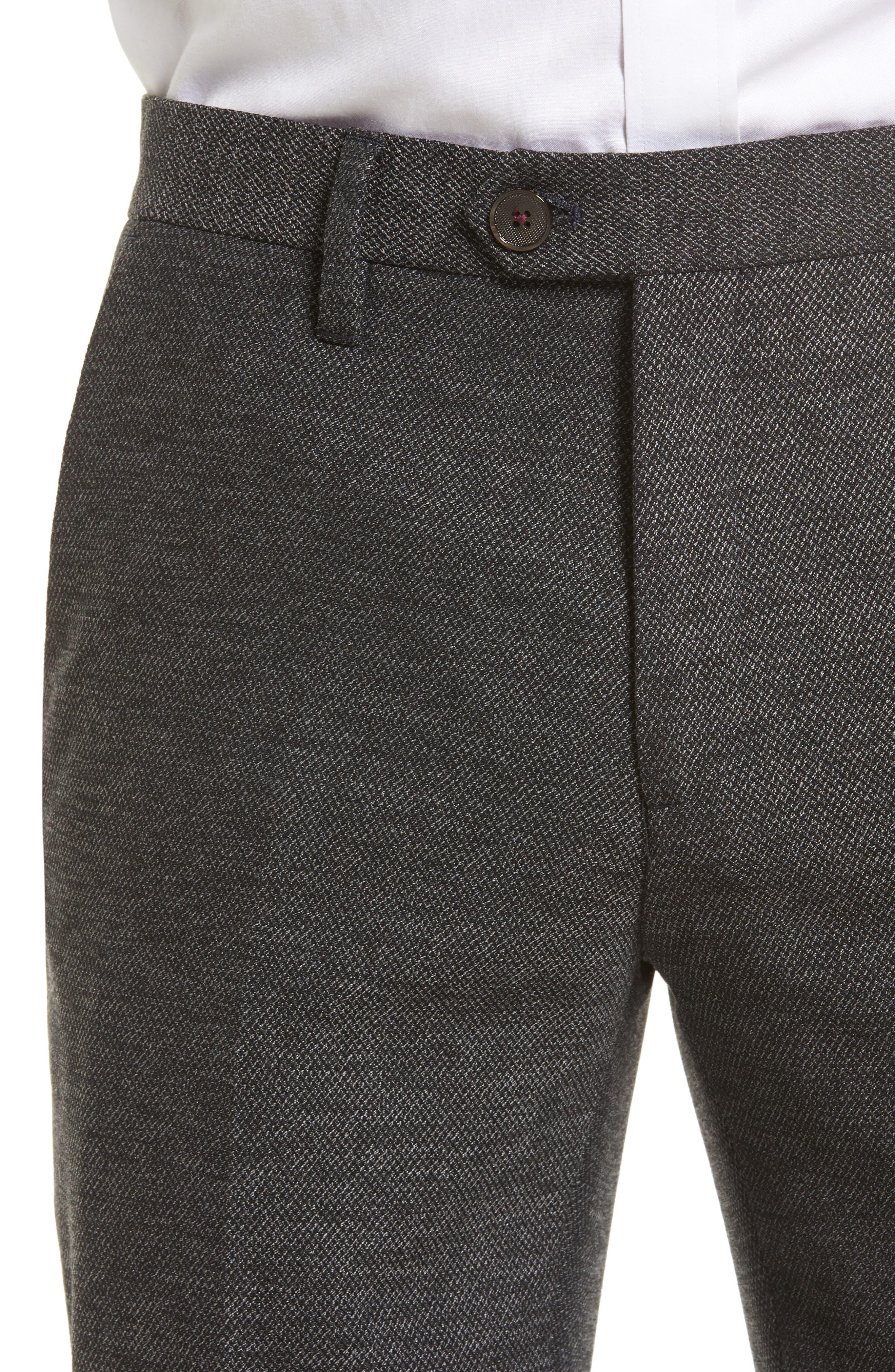Porttro Modern Slim Fit Trousers,                             Alternate thumbnail 5, color,                             010