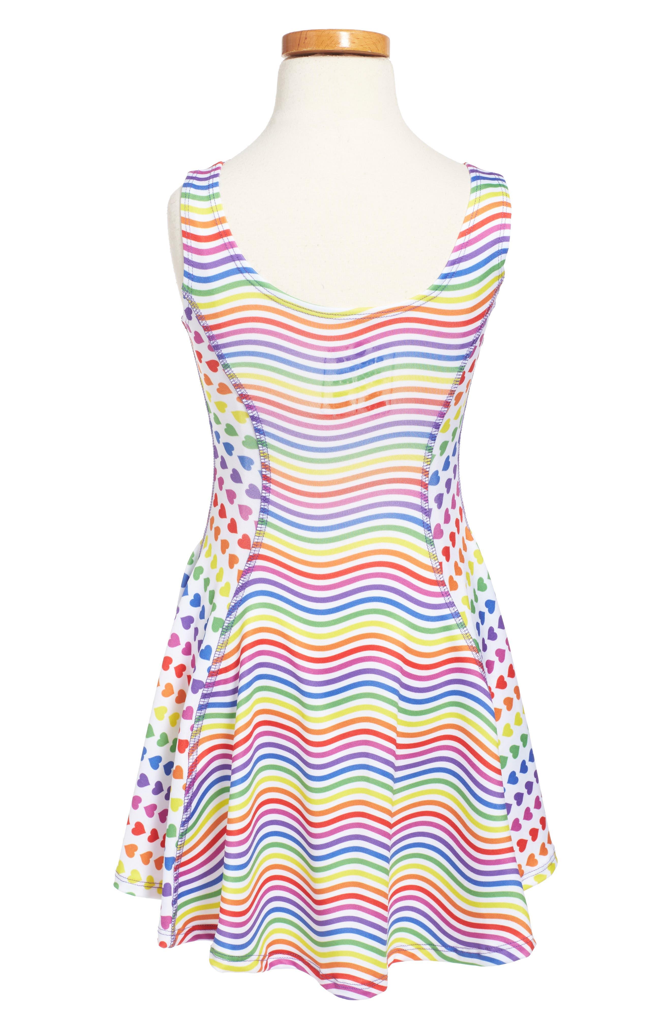 Flow Mixed Print Dress,                             Alternate thumbnail 30, color,