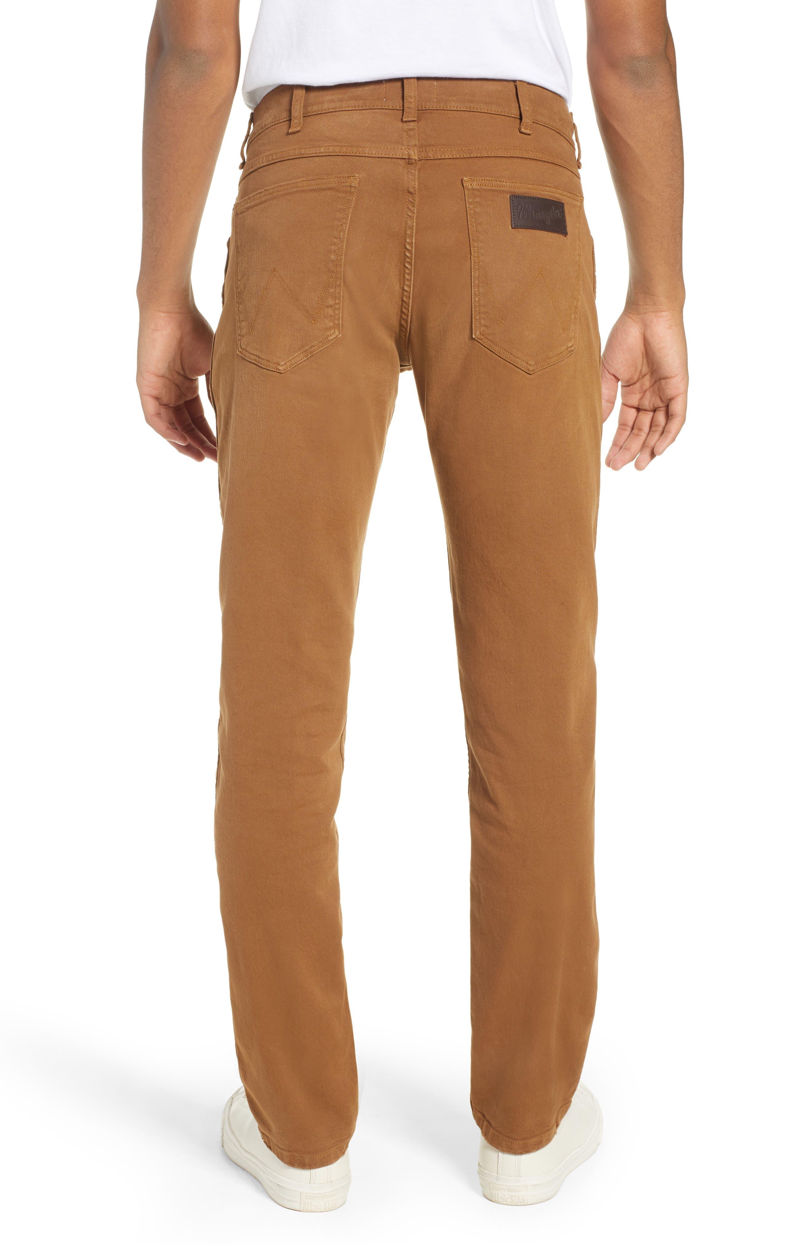 WRANGLER,                             Greensboro Straight Leg Pants,                             Alternate thumbnail 2, color,                             BISCUIT