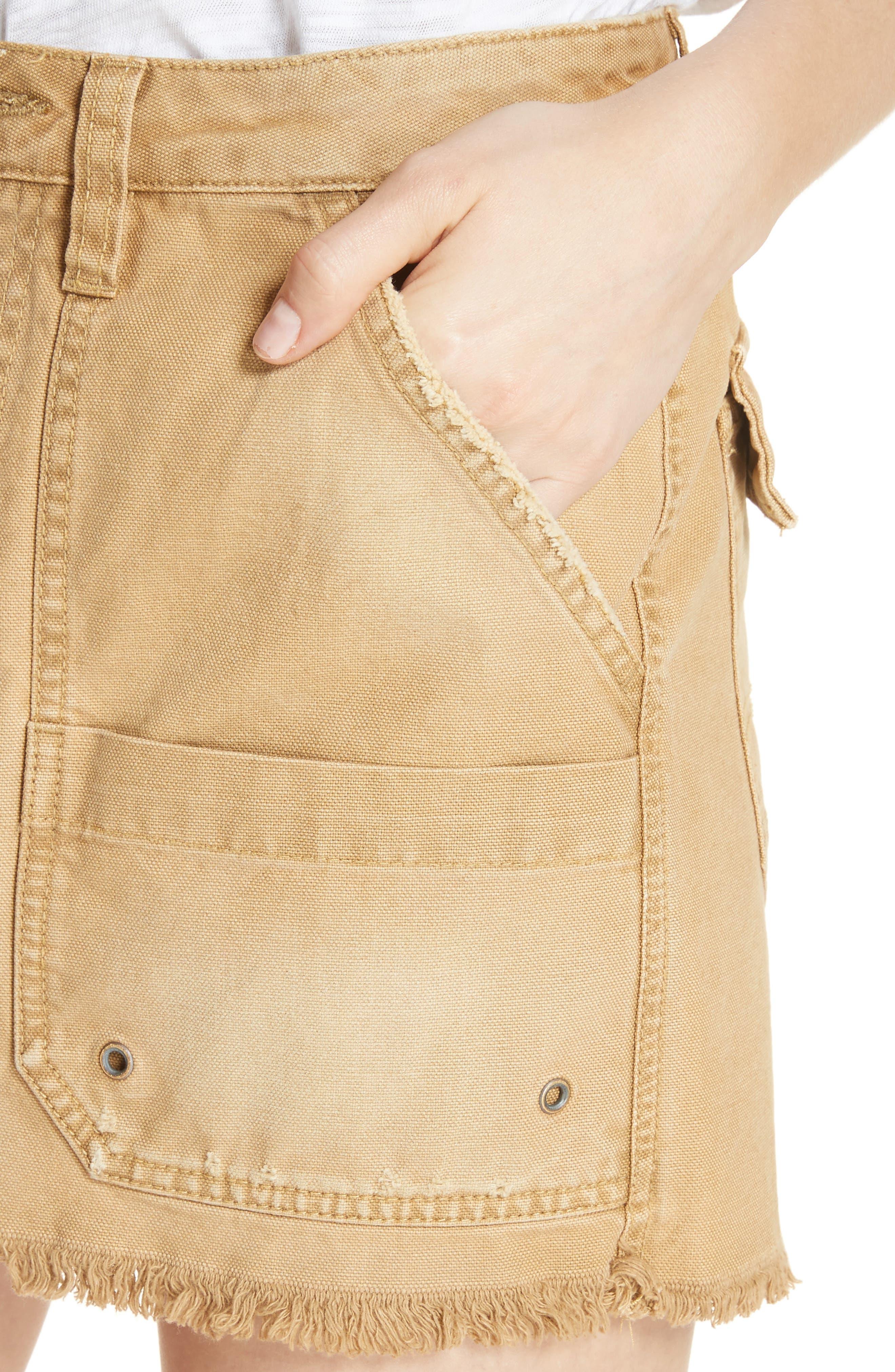 Canvas Miniskirt,                             Alternate thumbnail 10, color,