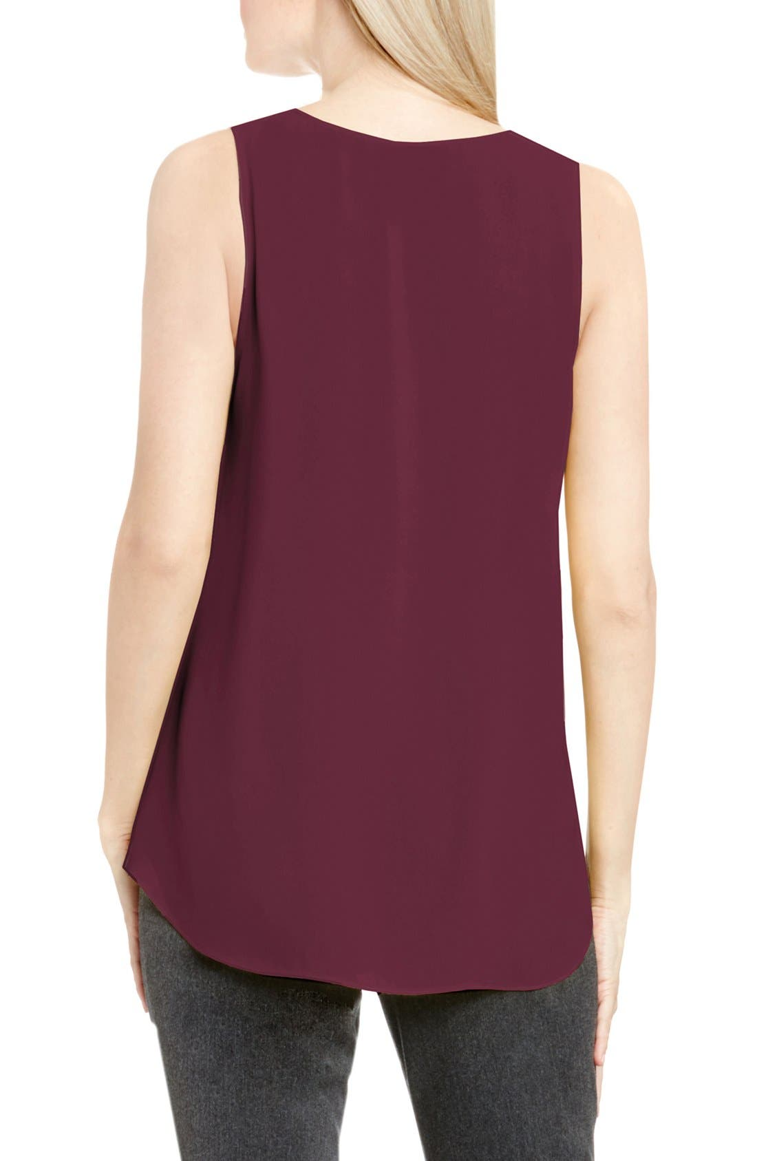 Drape Front V-Neck Sleeveless Blouse,                             Alternate thumbnail 77, color,