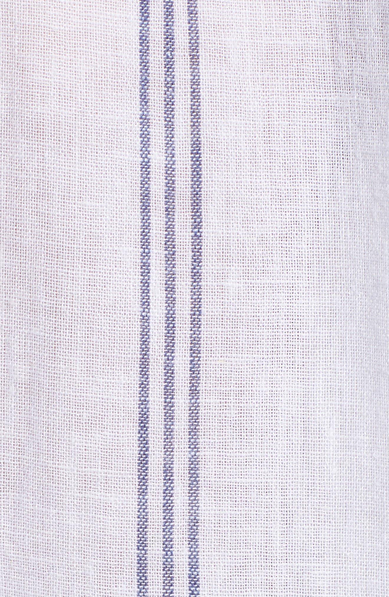 Matea Stripe Lace-Up Top,                             Alternate thumbnail 6, color,                             142