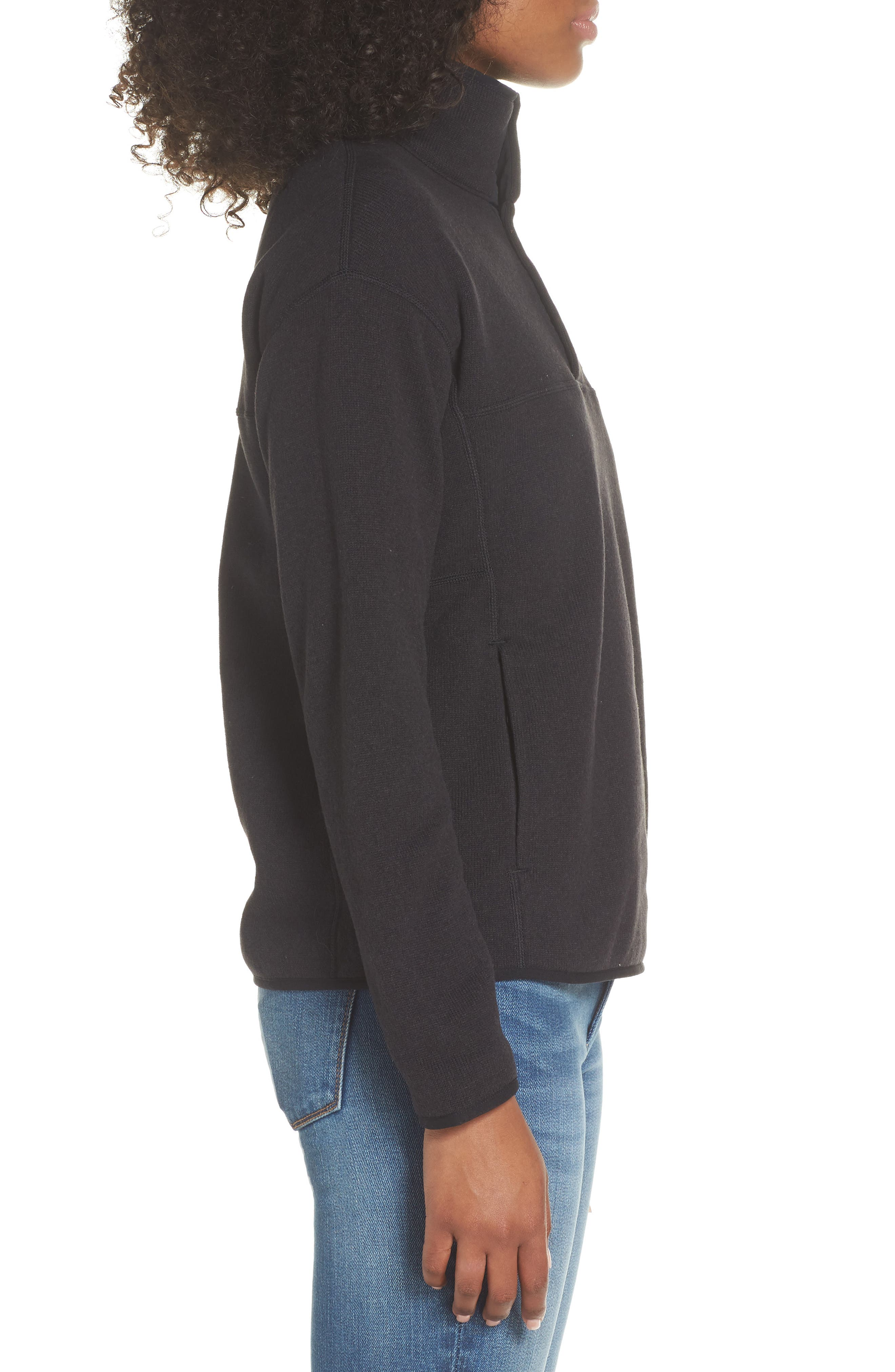 Lightweight Better Sweater Fleece,                             Alternate thumbnail 3, color,                             BLACK
