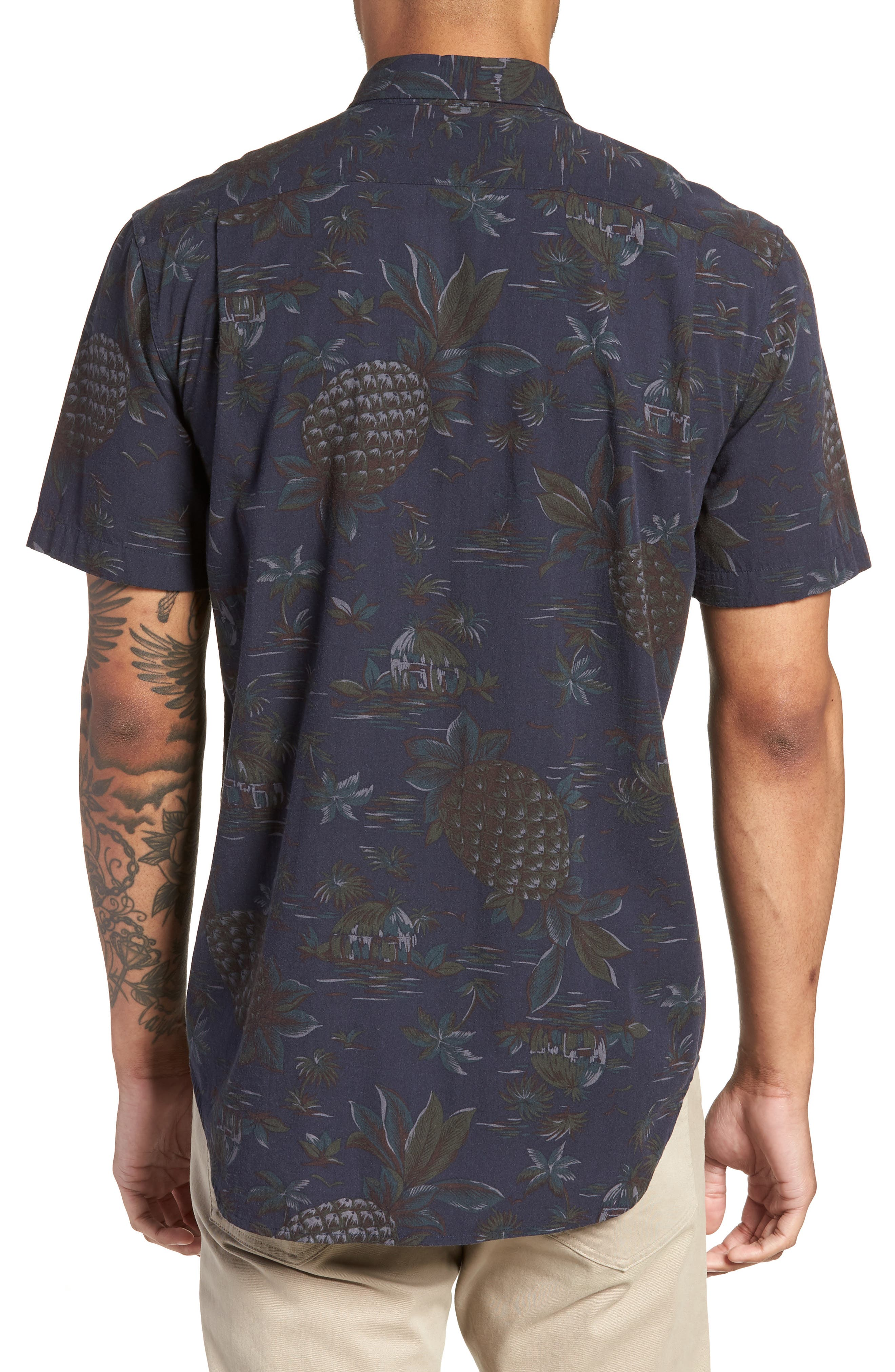 Classic Fit Tropical Short Sleeve Sport Shirt,                             Alternate thumbnail 2, color,                             463