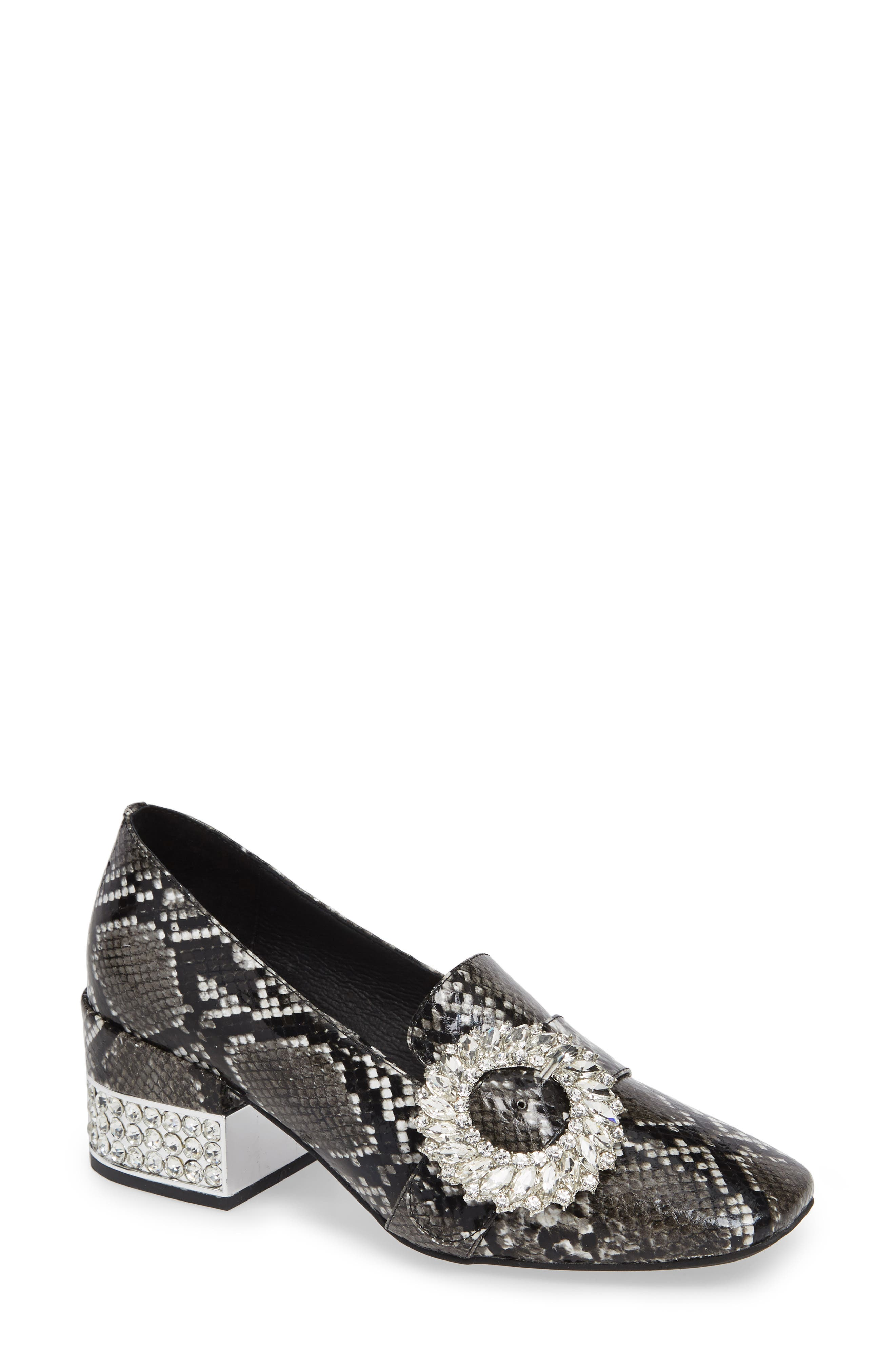 Louisa Pump,                             Main thumbnail 1, color,                             SNAKE PRINT LEATHER/ SILVER