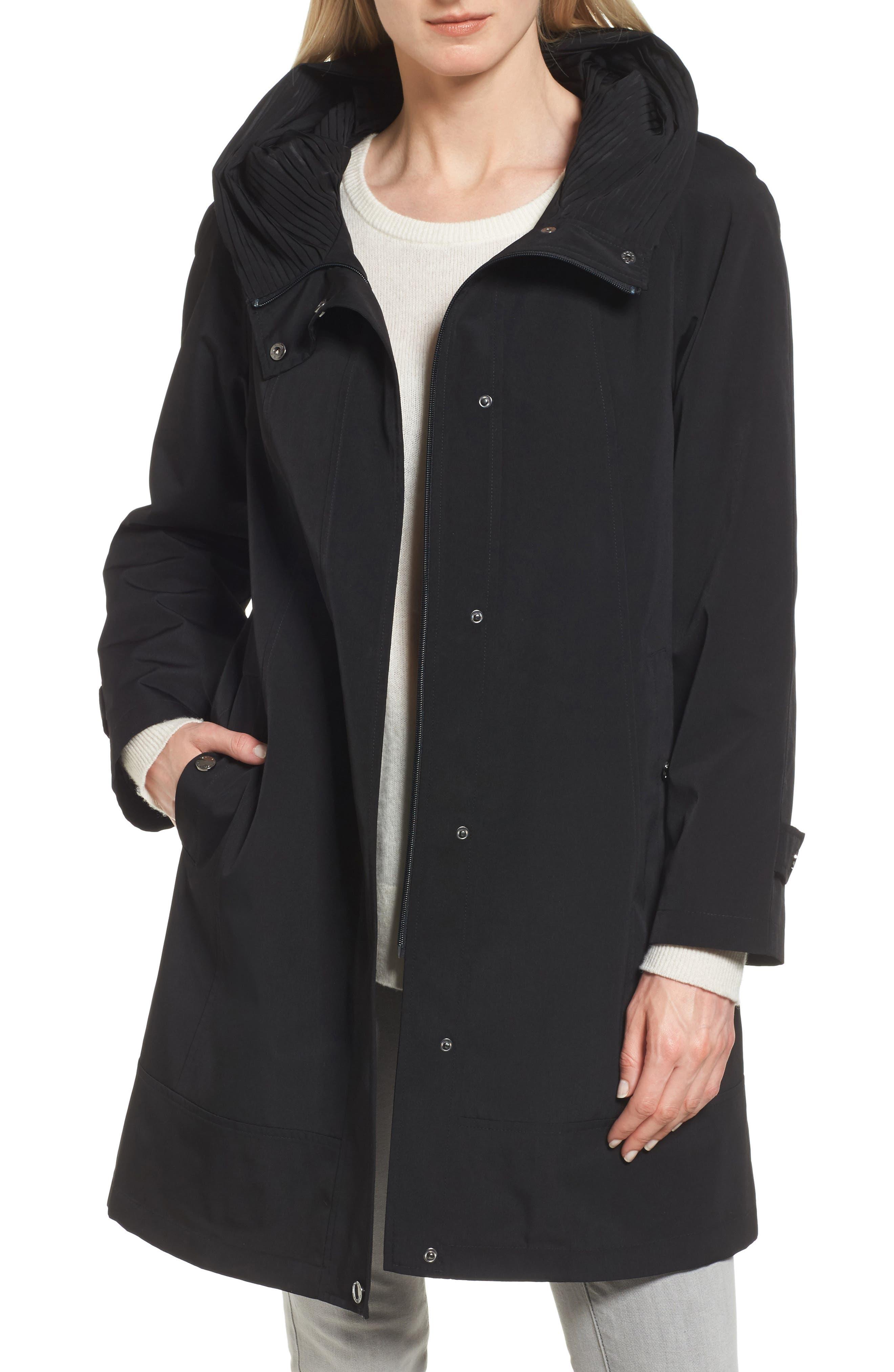 GALLERY A-Line Raincoat, Main, color, 001