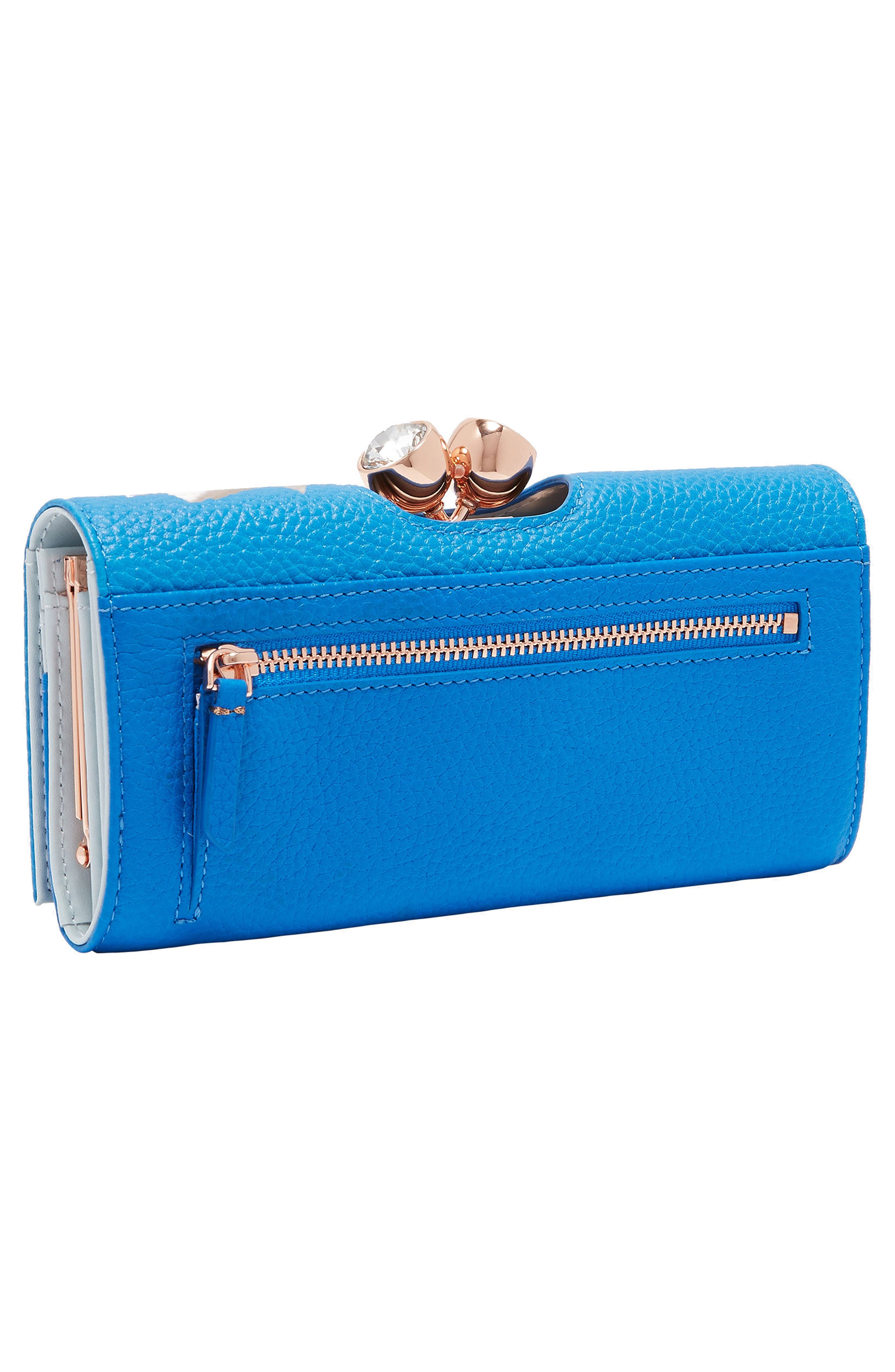 Caryl Harmony Leather Matinée Wallet,                             Alternate thumbnail 3, color,                             430