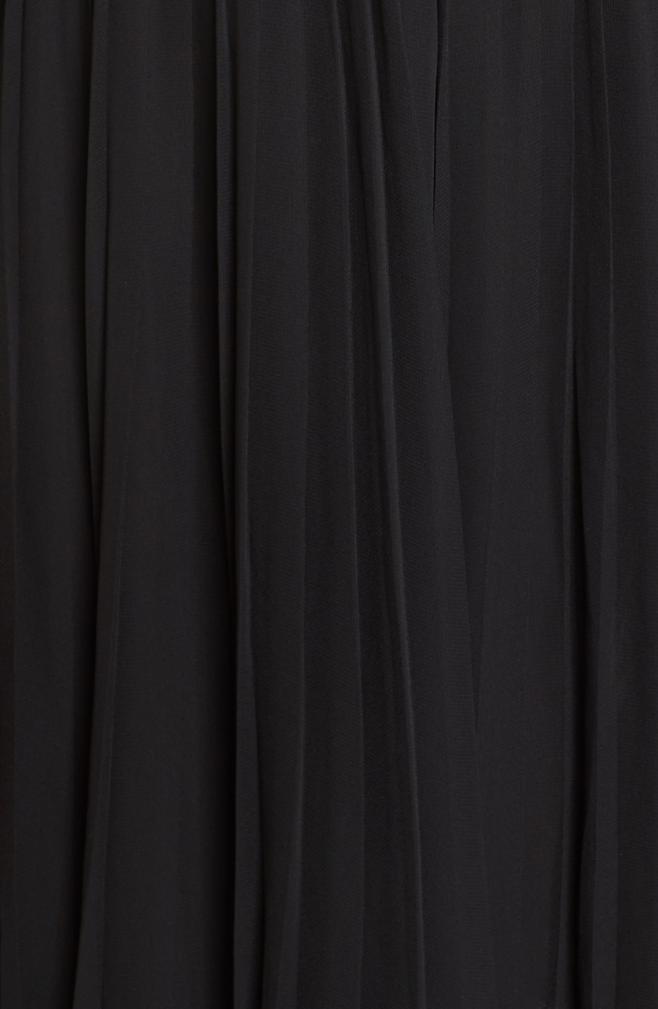 Velvet Mock Neck Dress,                             Alternate thumbnail 5, color,                             002