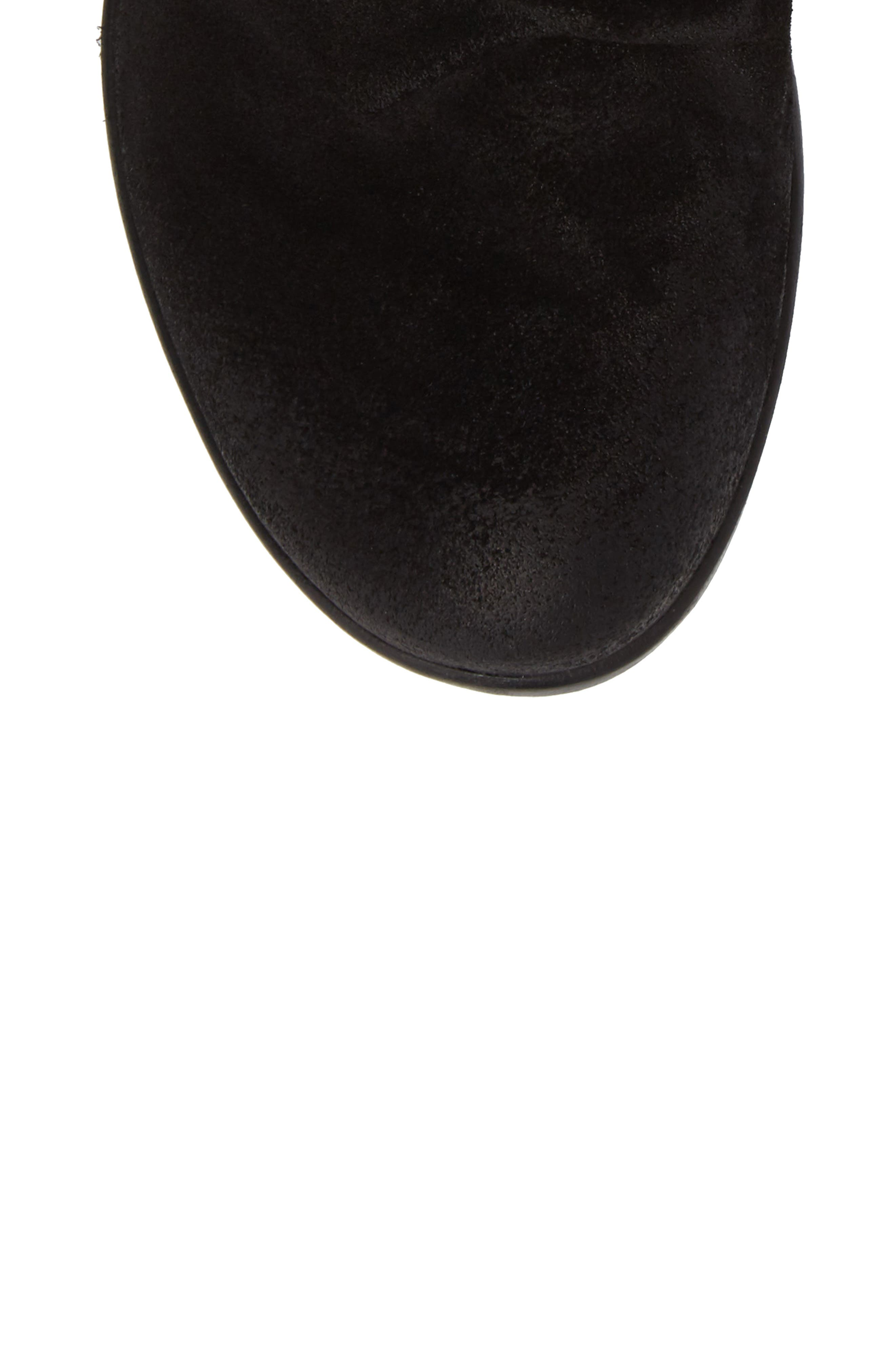 Hota Slouch Bootie,                             Alternate thumbnail 5, color,                             BLACK LEATHER