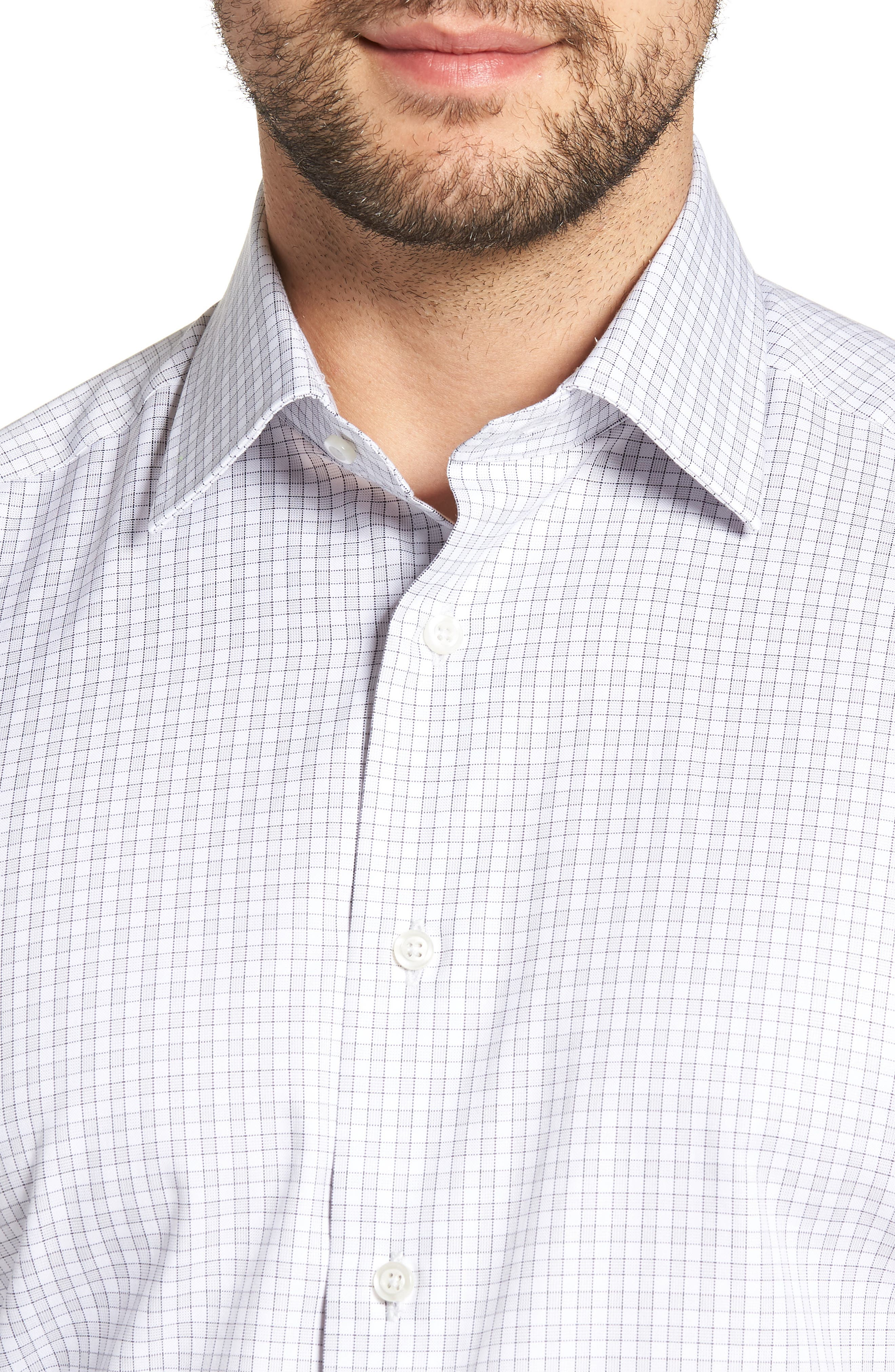 Regular Fit Check Dress Shirt,                             Alternate thumbnail 2, color,                             GRAY
