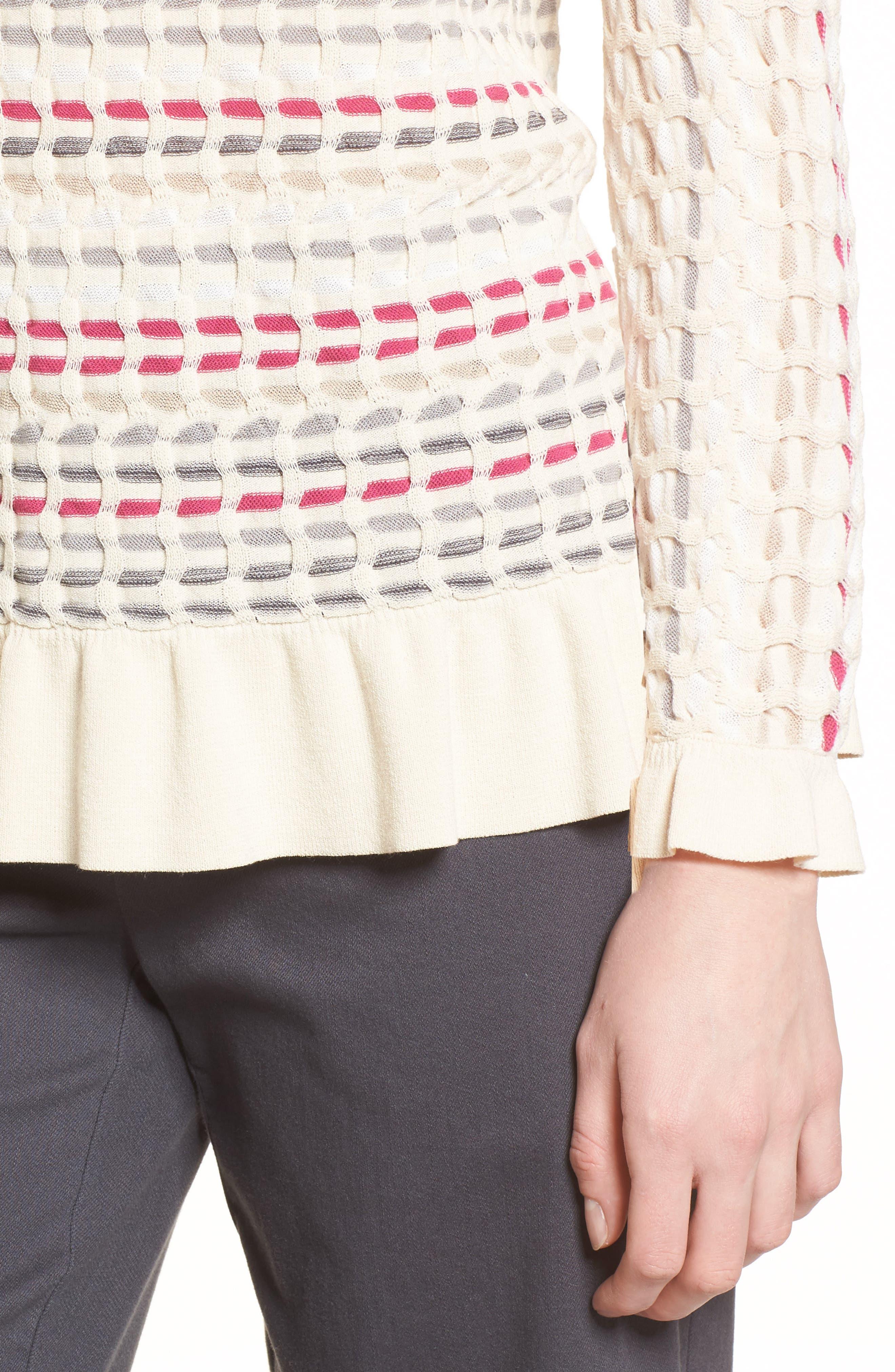 Saffron Stitch Sweater,                             Alternate thumbnail 4, color,