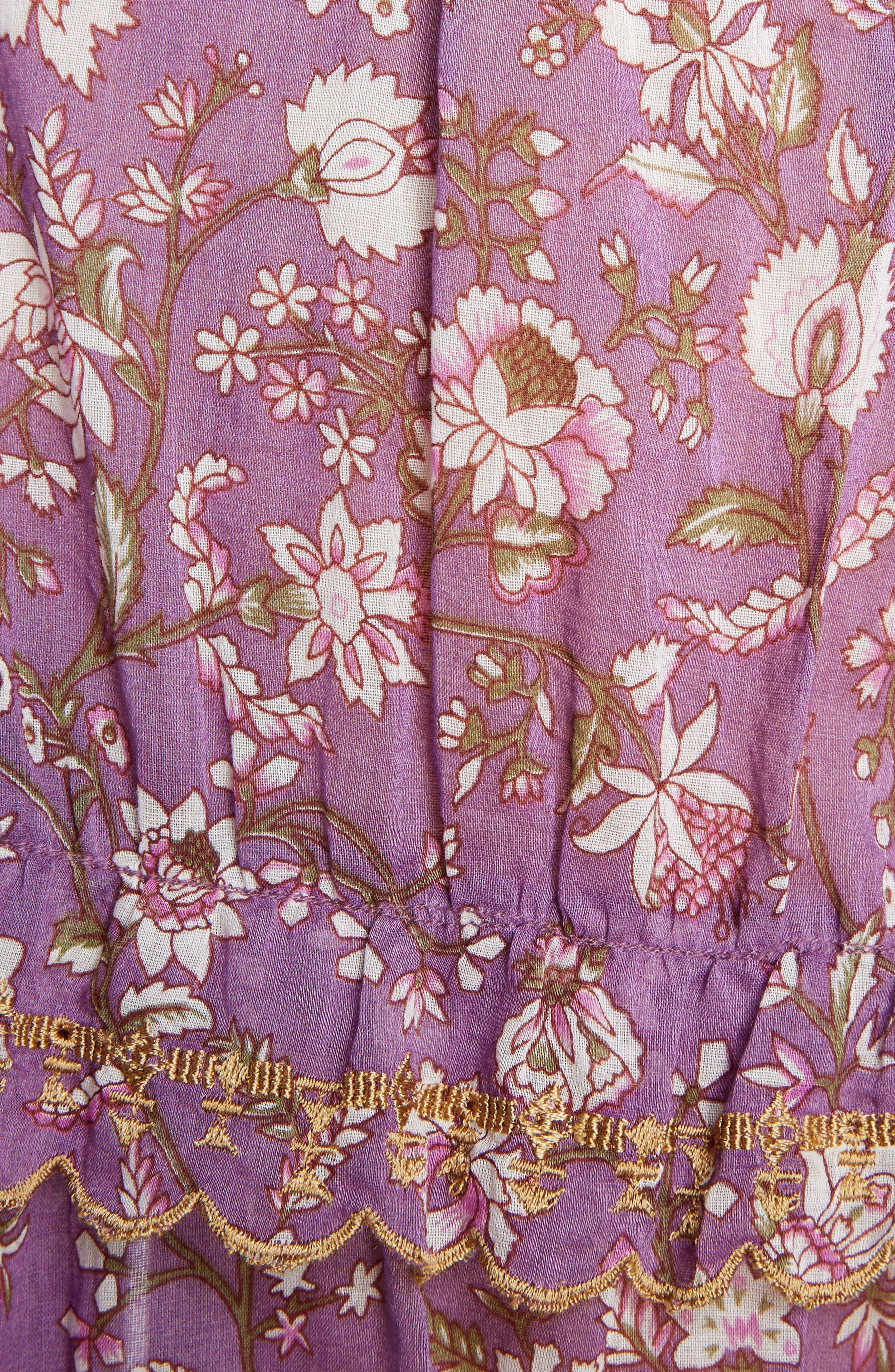 Isabel Marant Étoile Moxley Print Cotton Top,                             Alternate thumbnail 5, color,