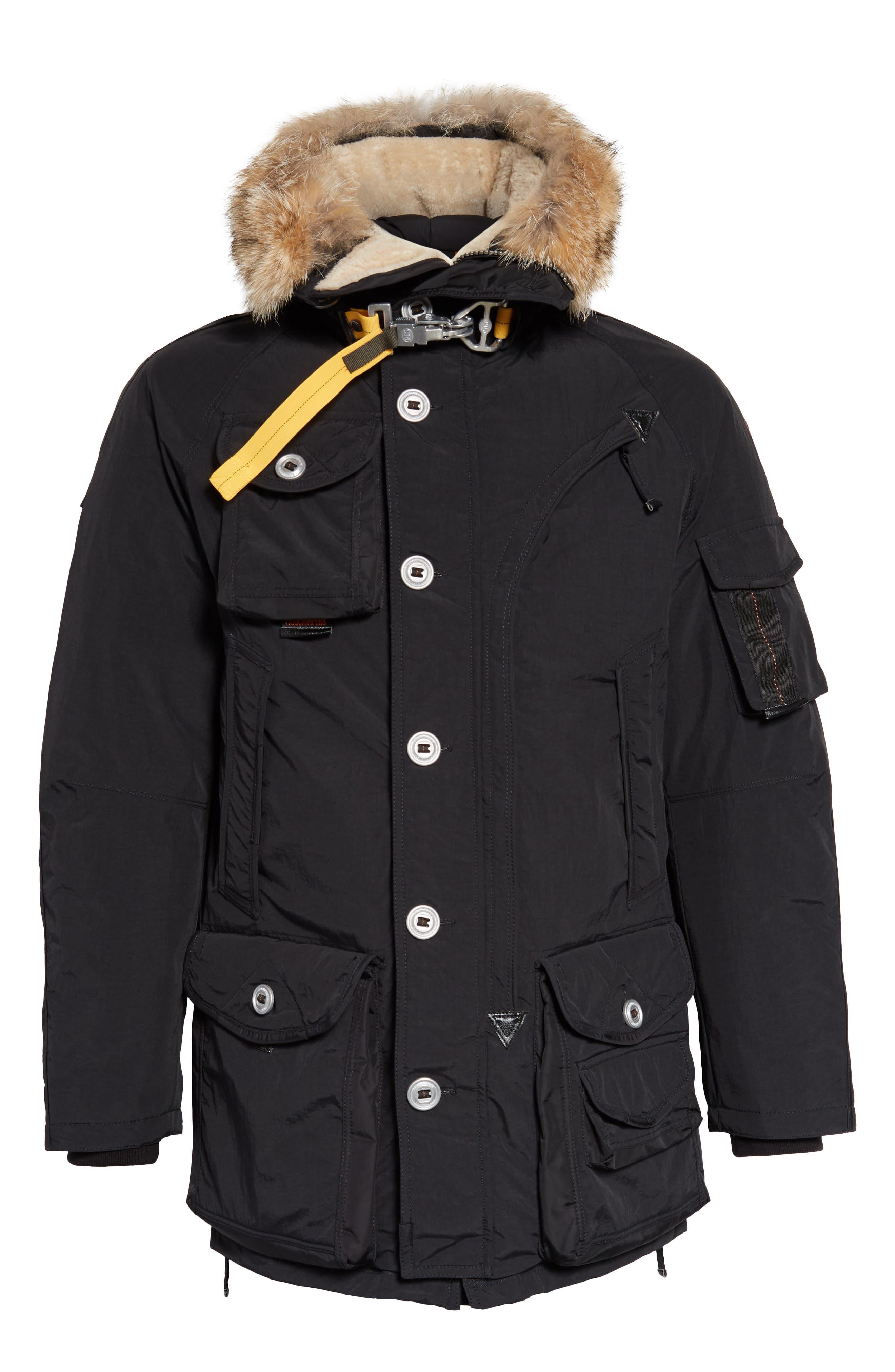 Musher Waterproof Hooded Parka with Genuine Coyote Fur Trim,                             Alternate thumbnail 5, color,                             001