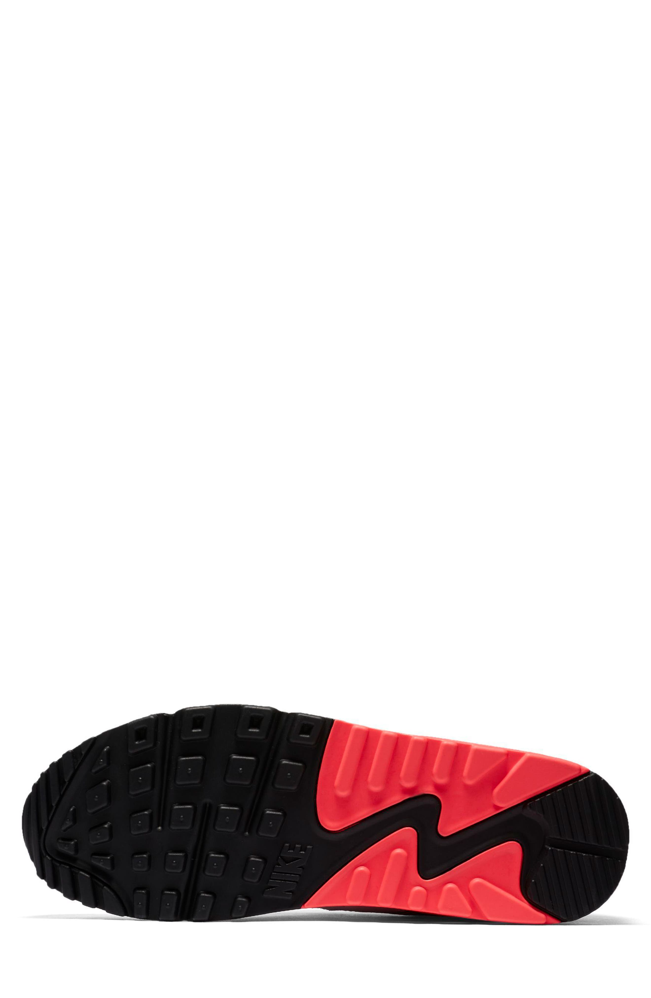 Air Max 90 Essential Sneaker,                             Alternate thumbnail 5, color,                             WHITE/ ULTRAMARINE
