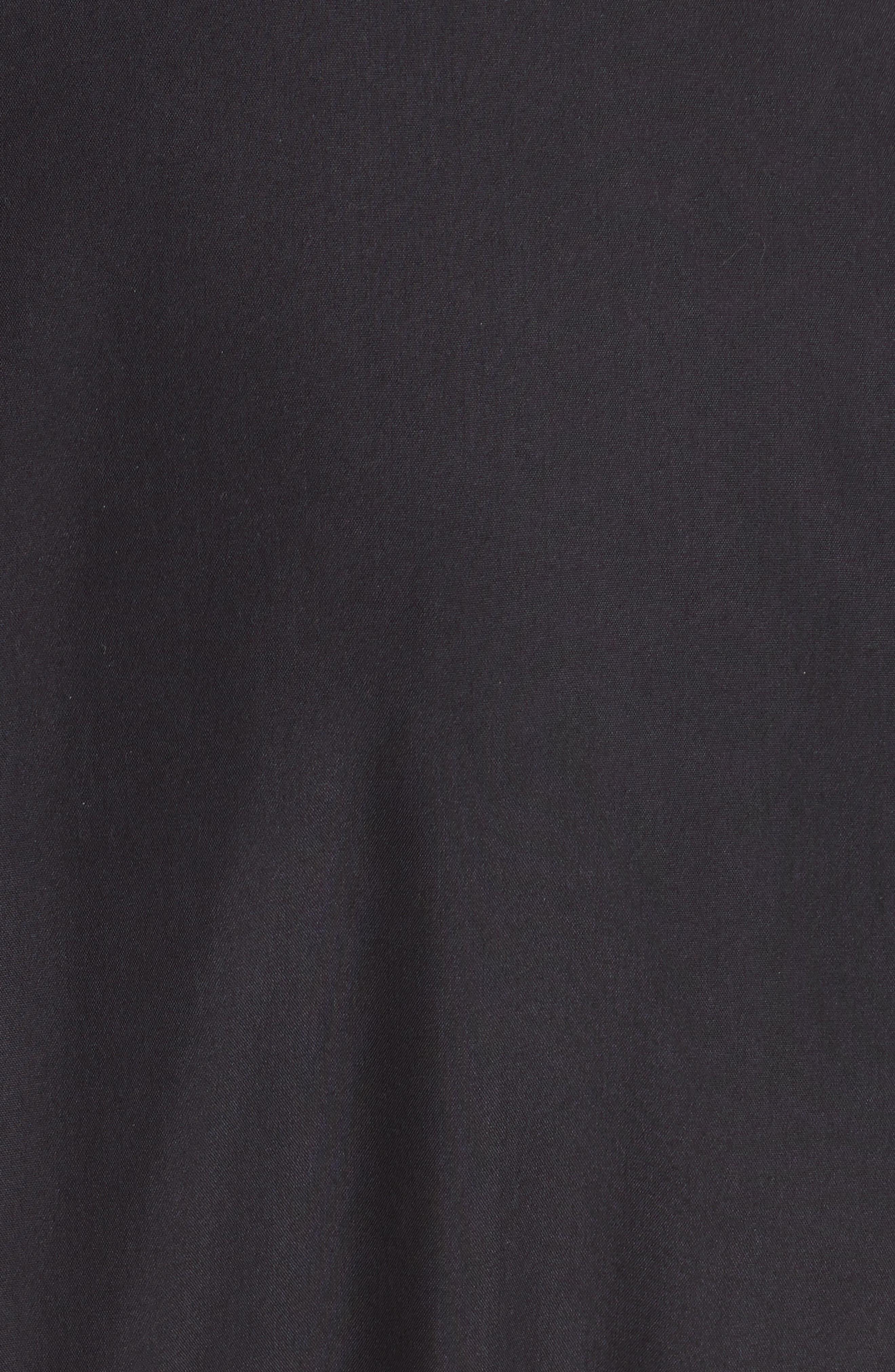 Garner Drop Shoulder Flounce Dress,                             Alternate thumbnail 5, color,                             001
