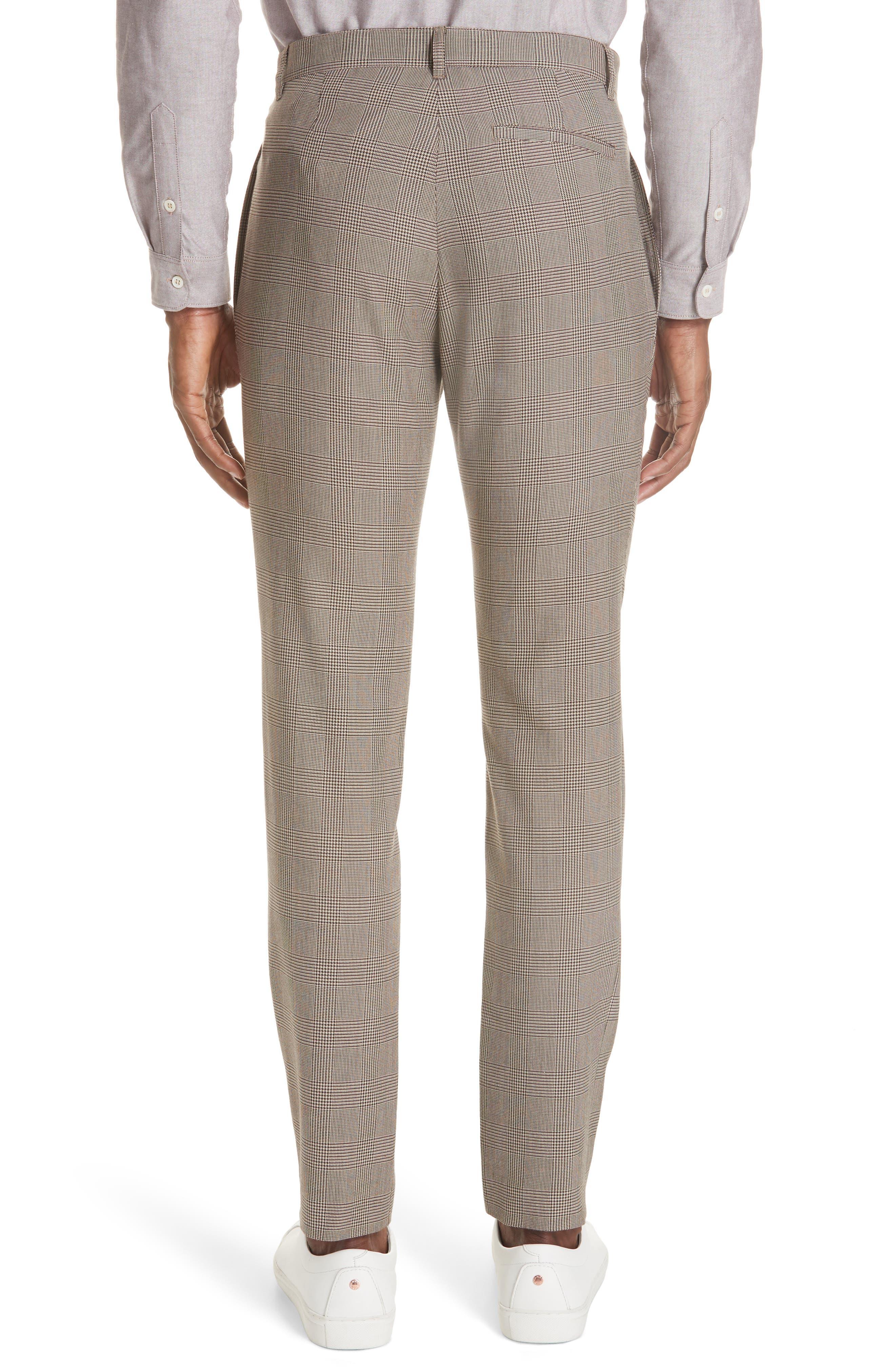 Check Wool Blend Pants,                             Alternate thumbnail 2, color,                             BAC BEIGE