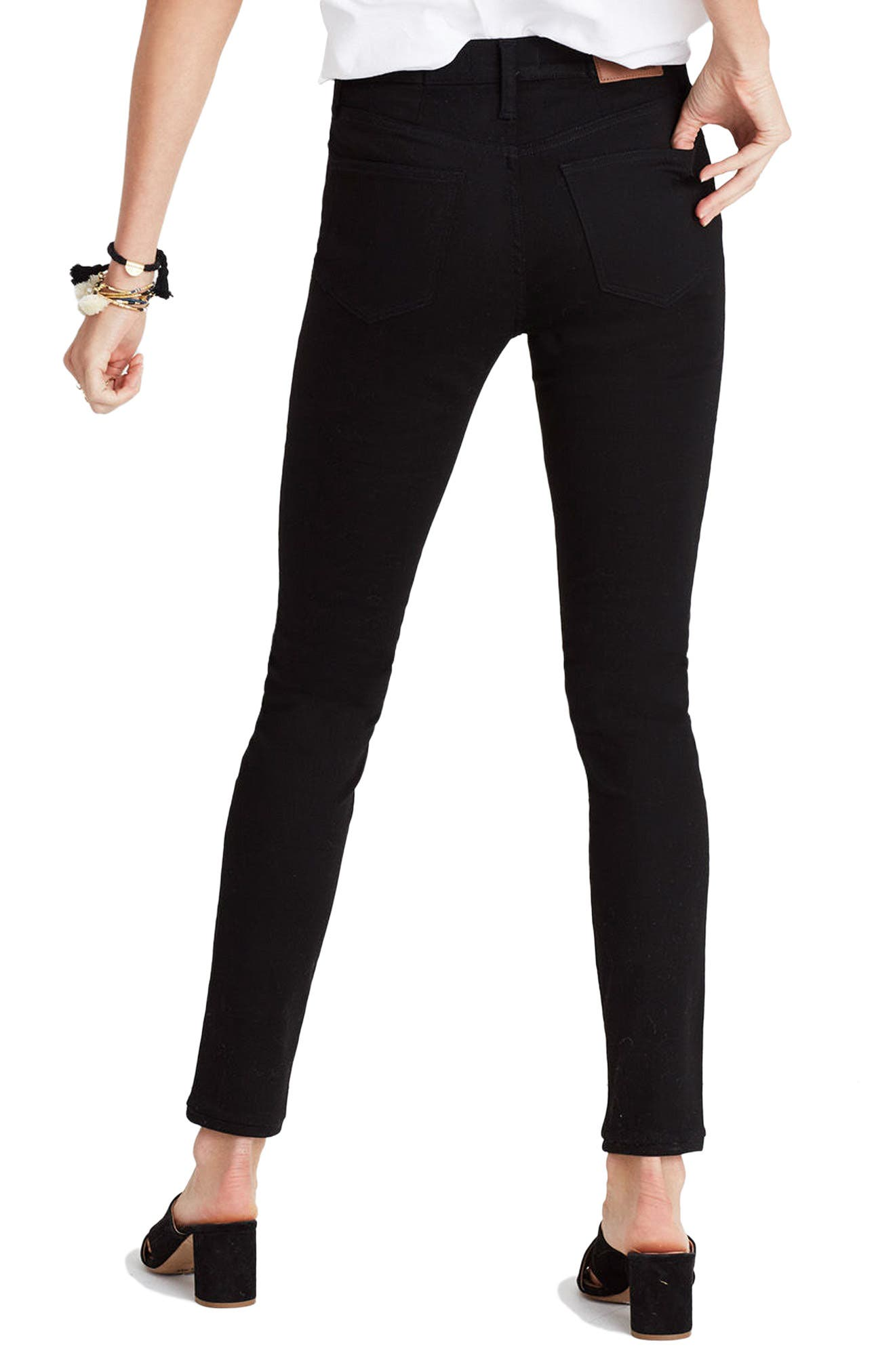 9-Inch High-Rise Skinny Jeans,                             Alternate thumbnail 2, color,                             001