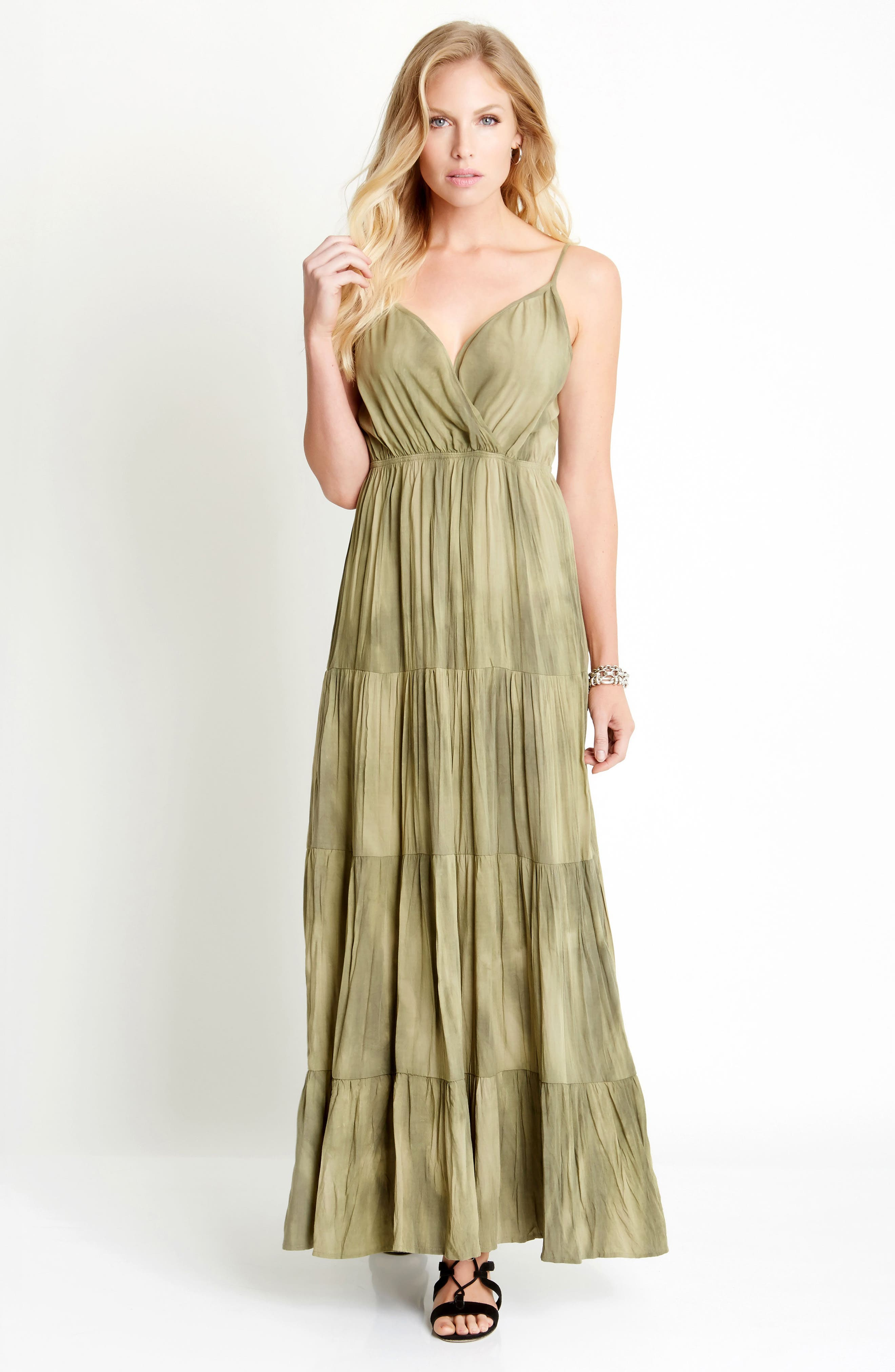 Tiered Maxi Dress,                             Alternate thumbnail 3, color,                             337