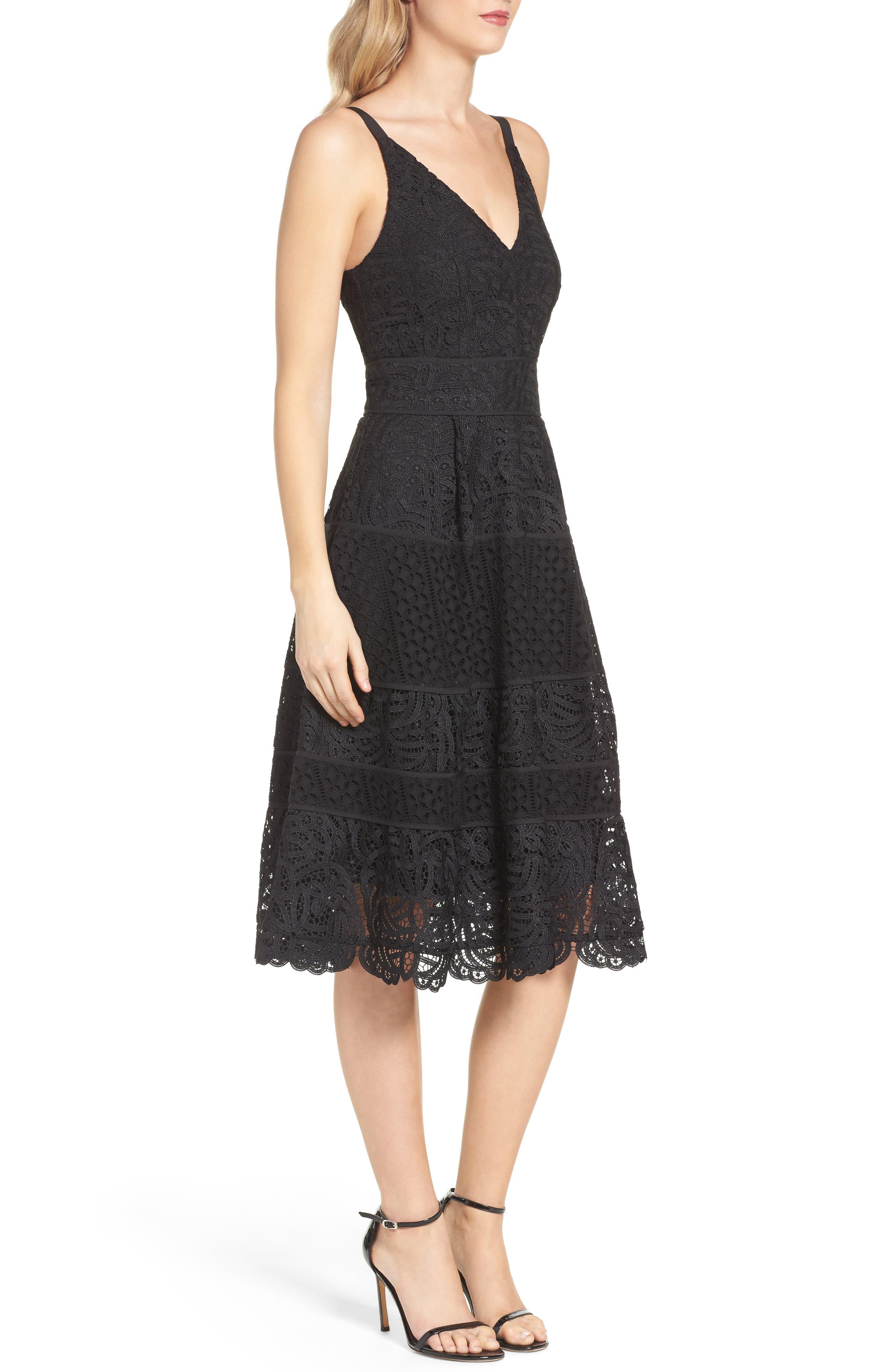 Fit & Flare Midi Dress,                             Alternate thumbnail 10, color,