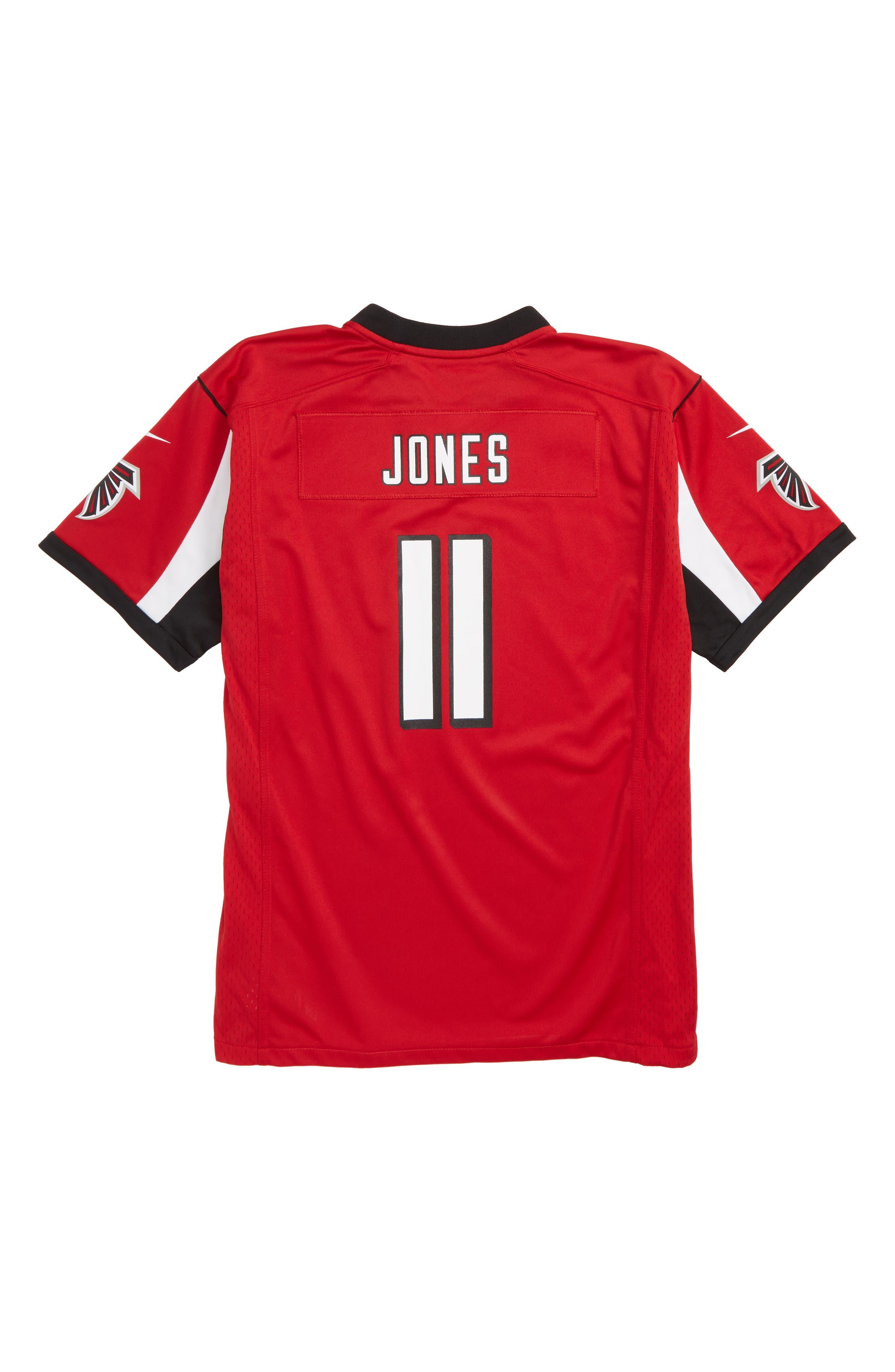 NFL Logo Atlanta Falcons Julio Jones Jersey,                             Alternate thumbnail 2, color,                             RED