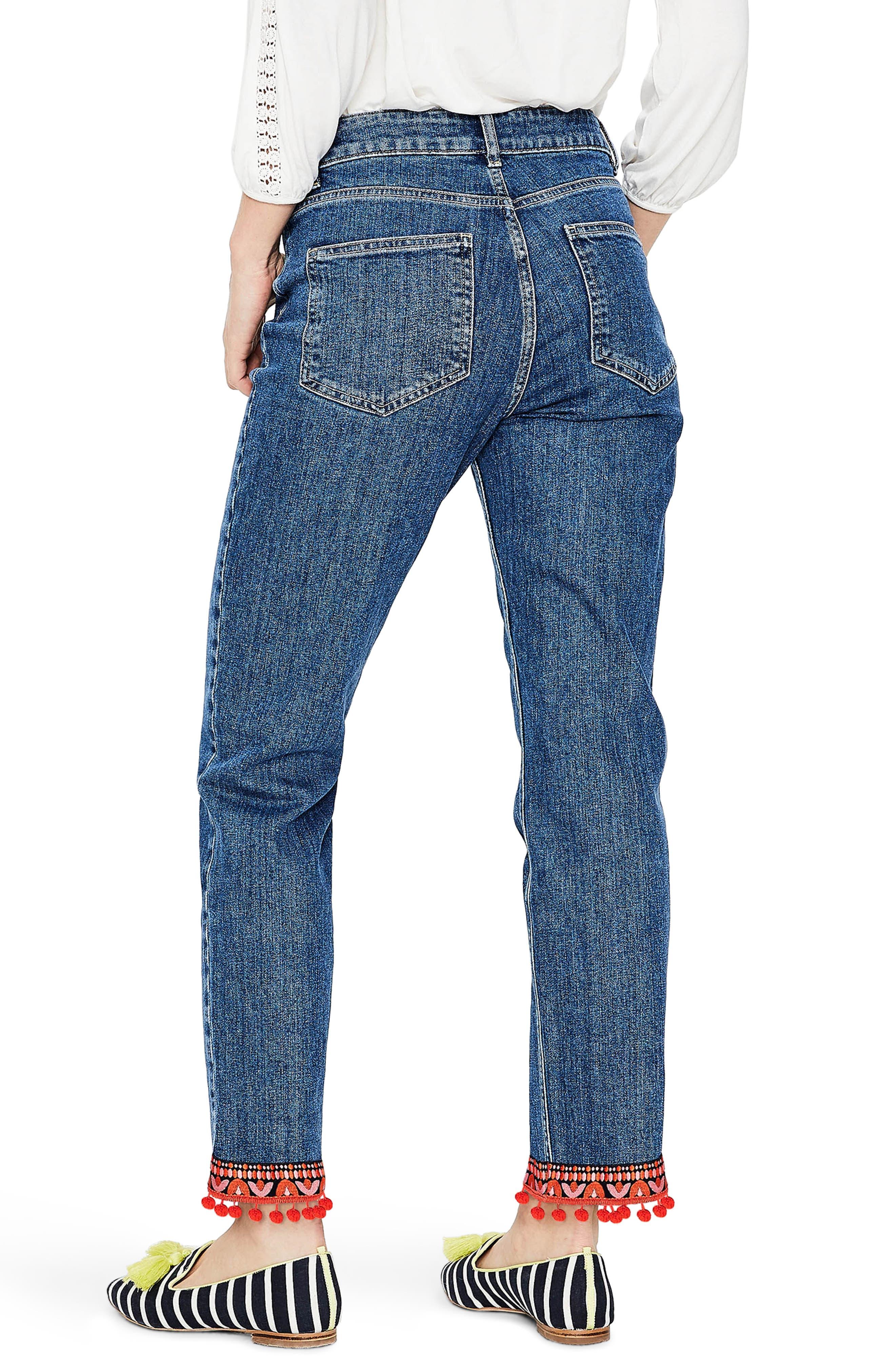 BODEN,                             Cambridge Embellished Ankle Skimmer Jeans,                             Alternate thumbnail 2, color,                             469