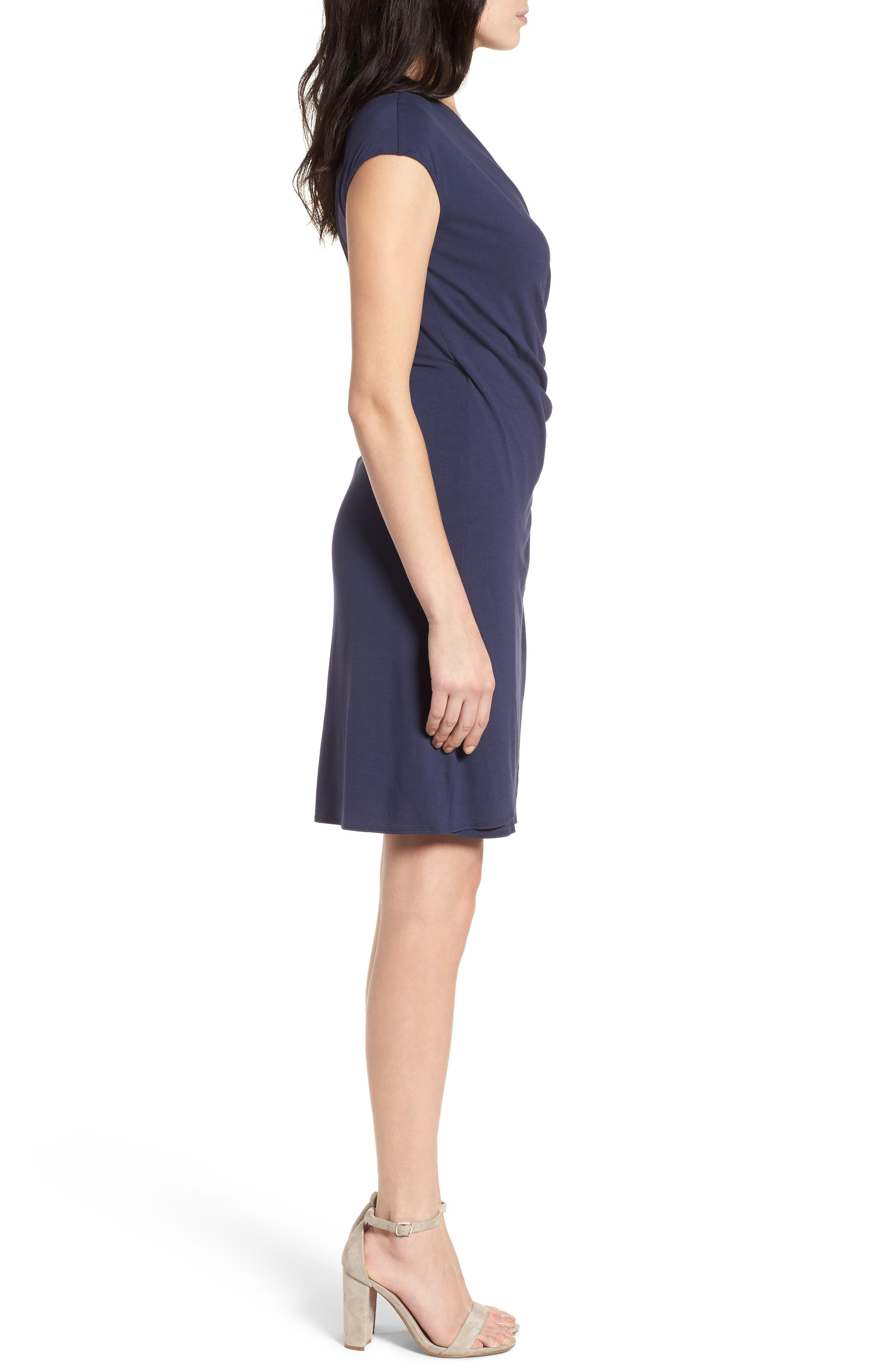 'Tambour' Side Gathered Dress,                             Alternate thumbnail 18, color,