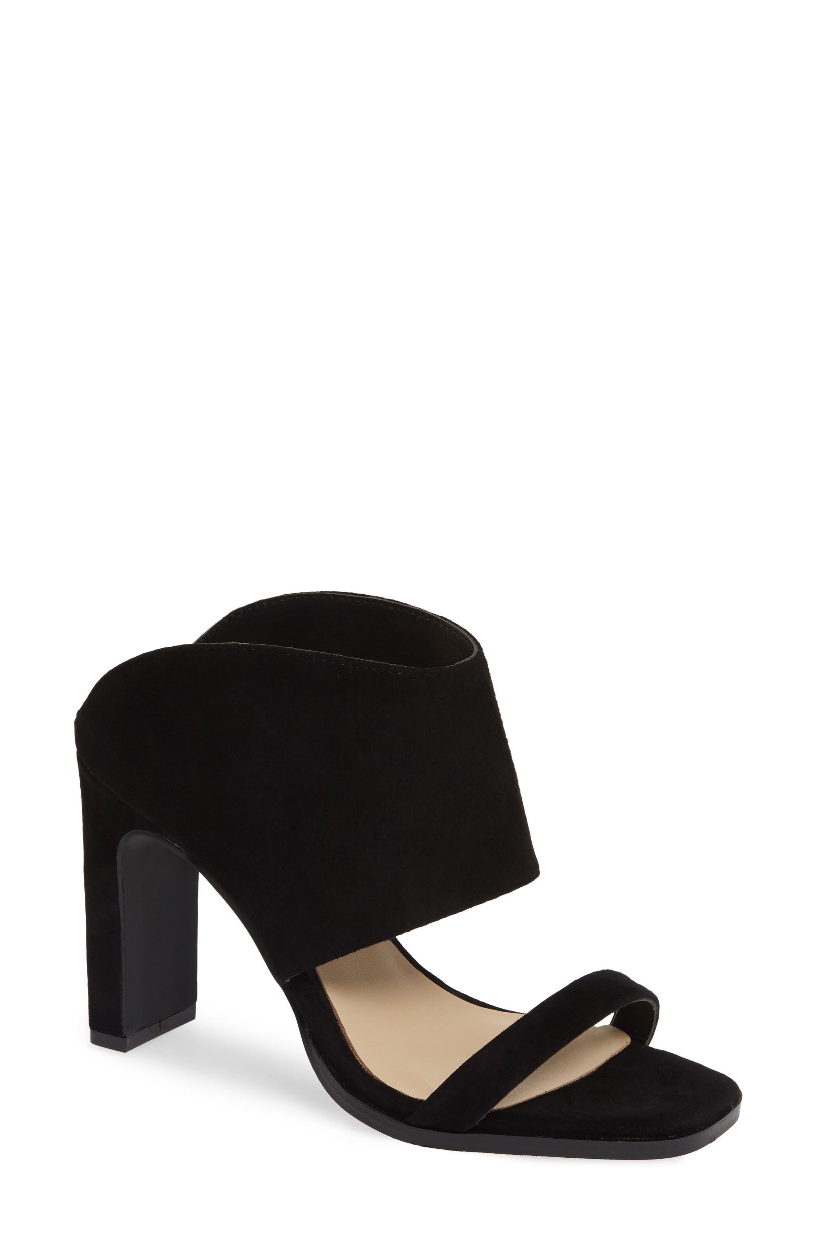42 GOLD Linx Slide Sandal, Main, color, BLACK SUEDE