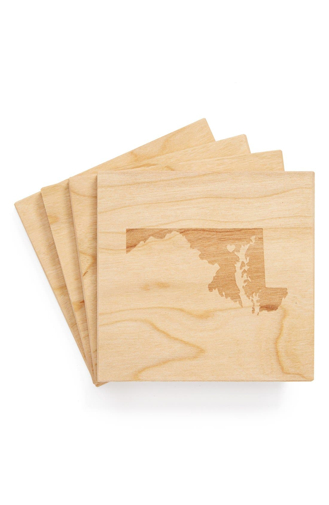 'State Silhouette' Coasters,                             Main thumbnail 41, color,