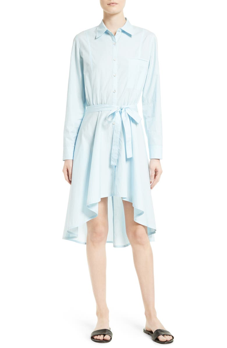Grey Jason Wu Highlow Cotton Poplin Shirtdress Nordstrom