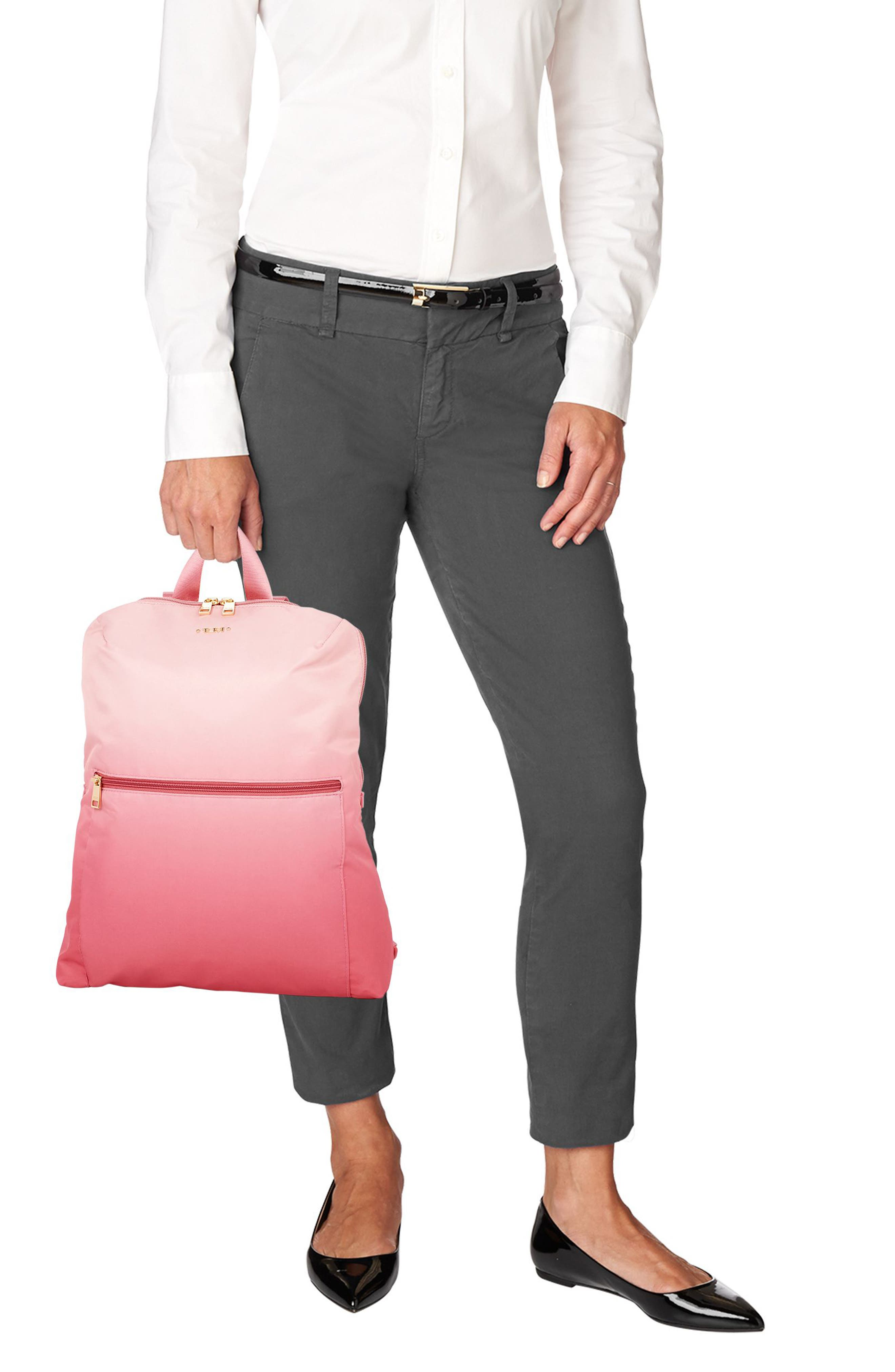 Voyageur - Just in Case Nylon Travel Backpack,                             Alternate thumbnail 2, color,                             PINK OMBRE