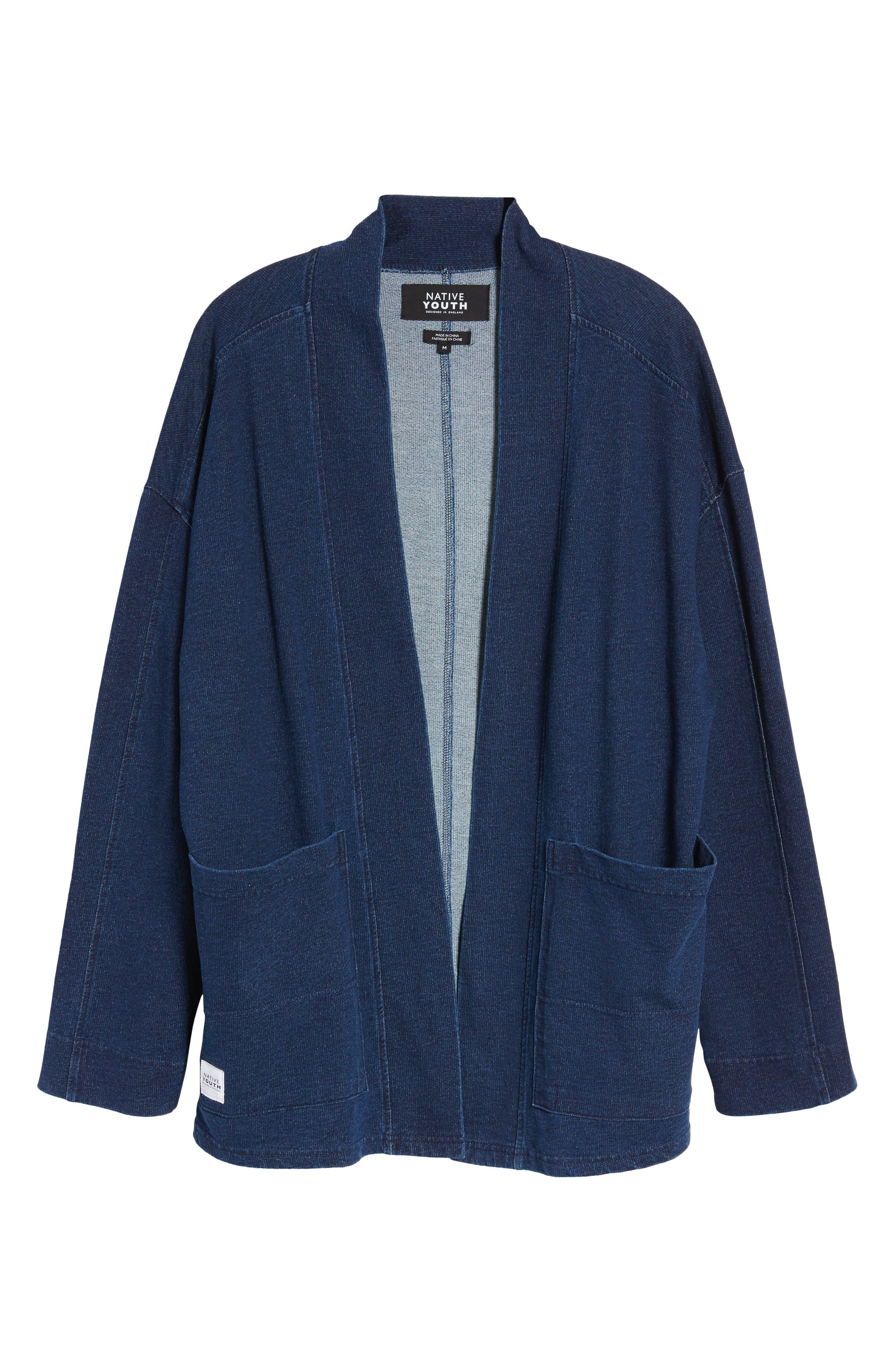 Marine Kimono Jacket,                             Alternate thumbnail 5, color,                             400