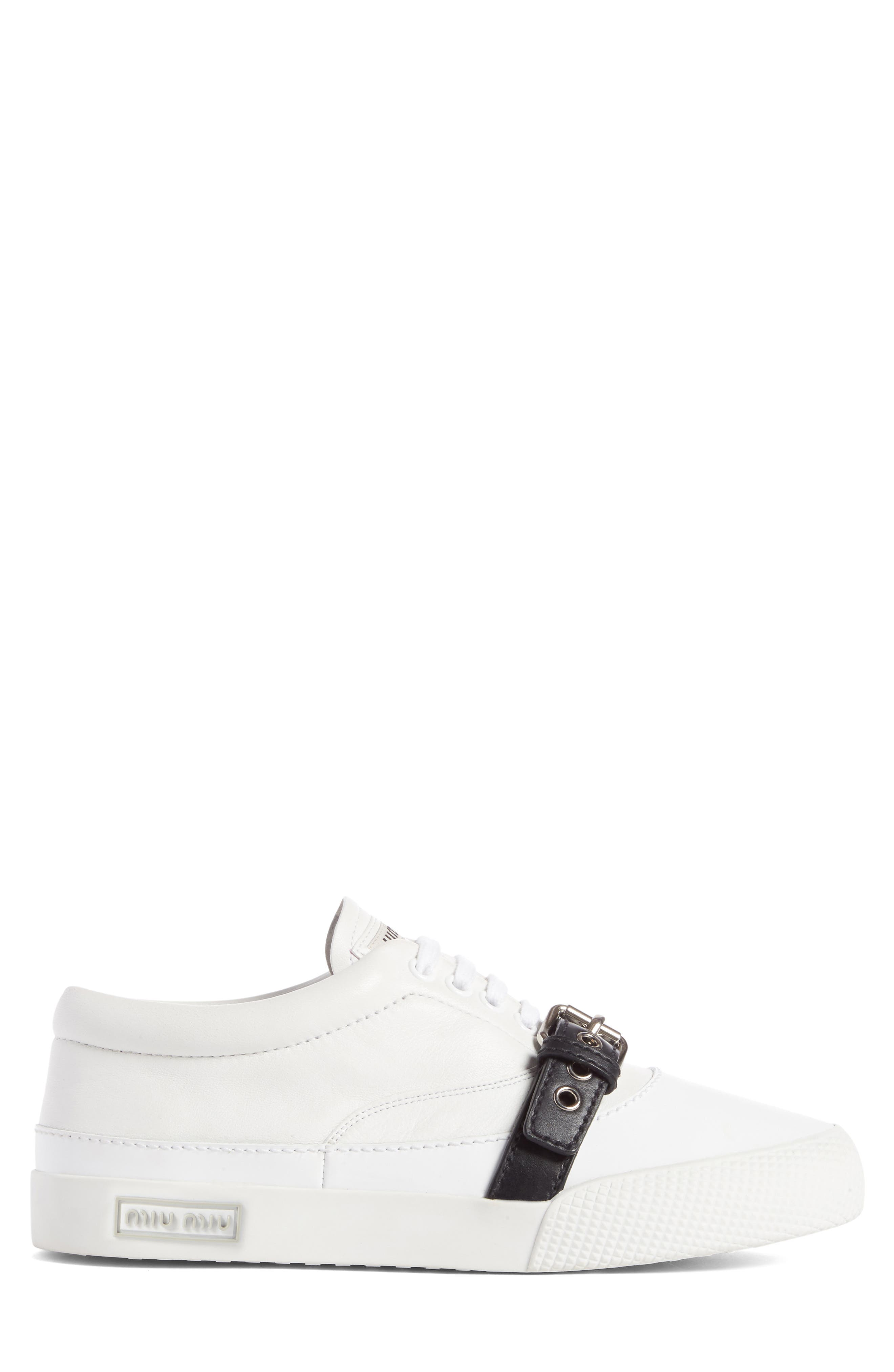 Belted Sneaker,                             Alternate thumbnail 4, color,                             100