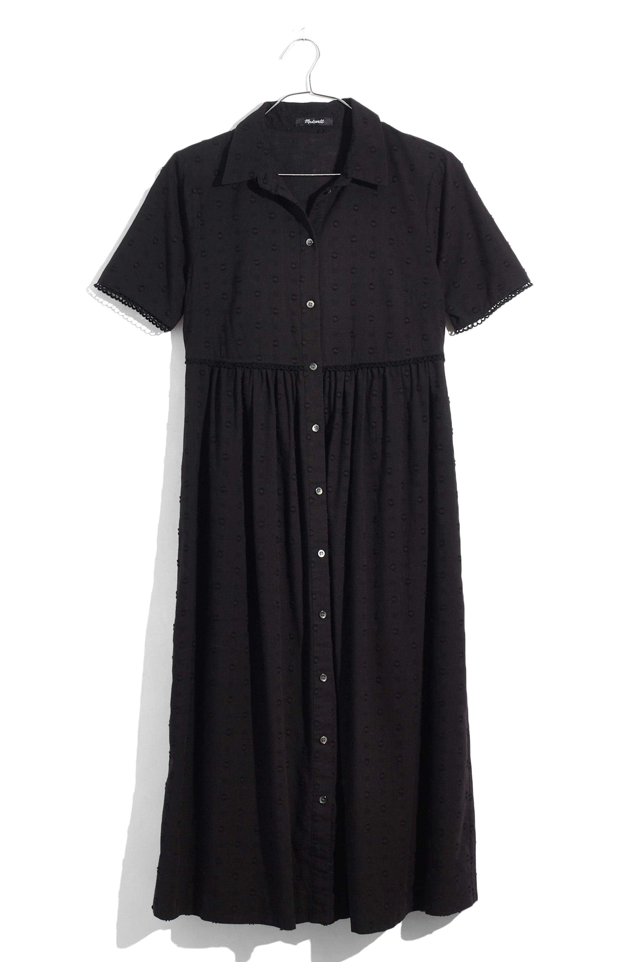 Clipdot Midi Shirtdress,                             Main thumbnail 1, color,                             001