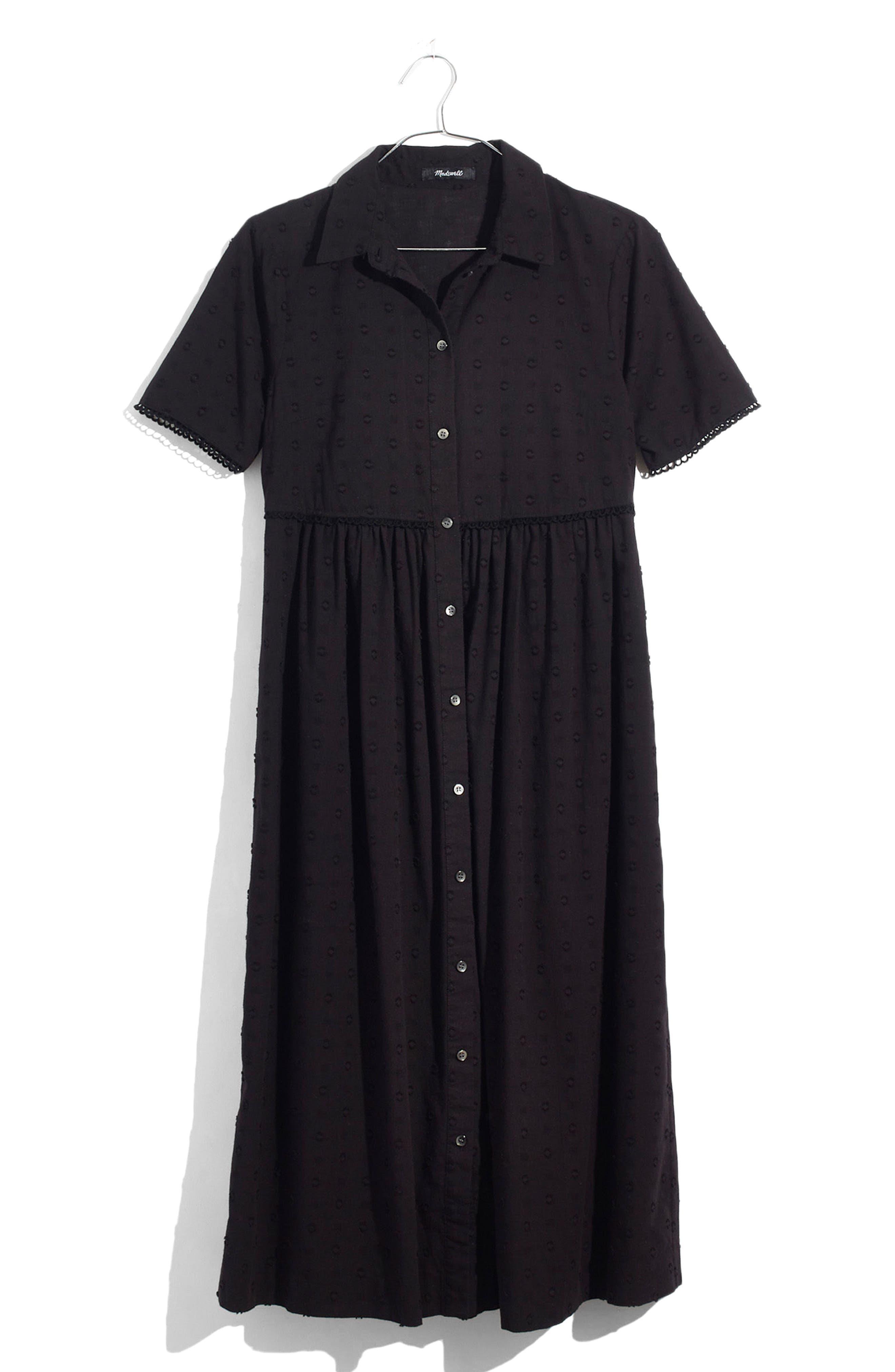 Clipdot Midi Shirtdress,                         Main,                         color, 001