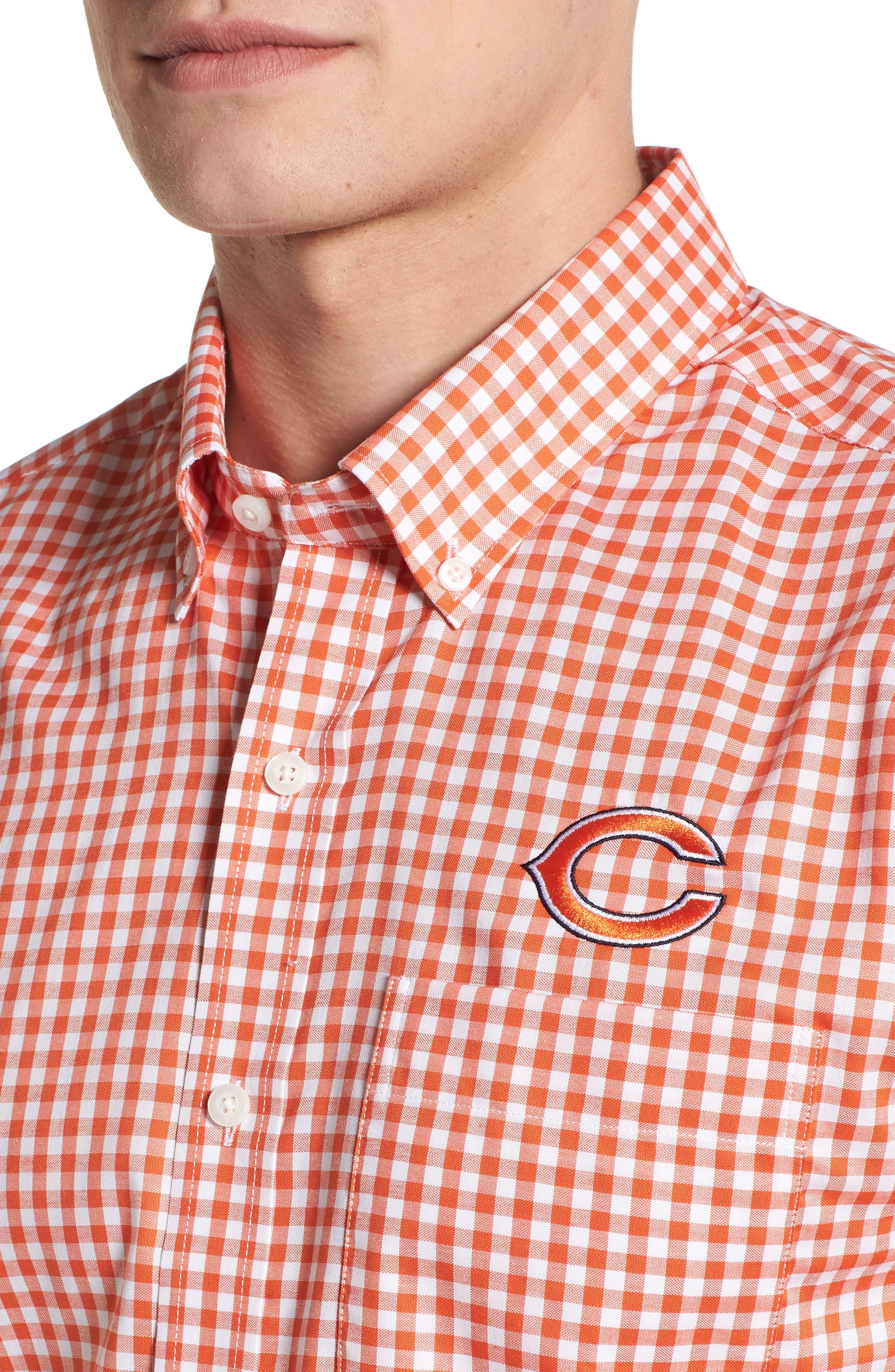 League Chicago Bears Regular Fit Shirt,                             Alternate thumbnail 4, color,                             COLLEGE ORANGE