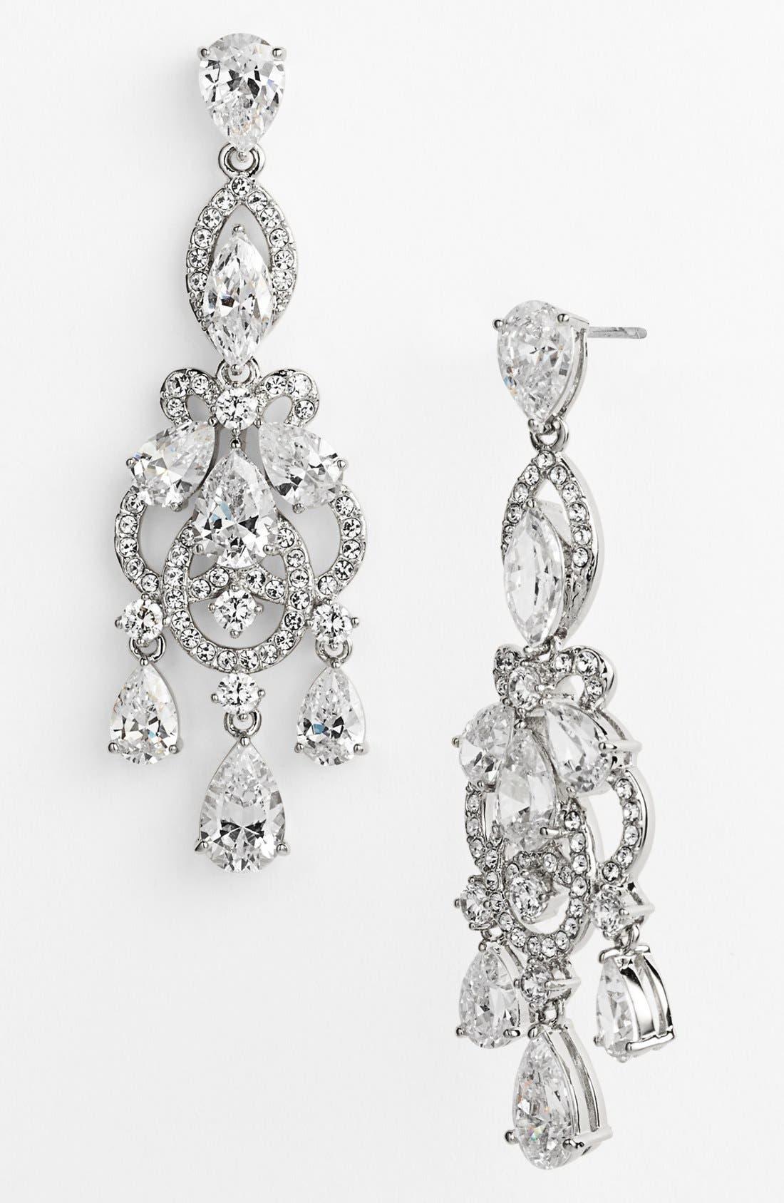 'Legacy' Crystal Chandelier Earrings,                             Alternate thumbnail 2, color,                             040