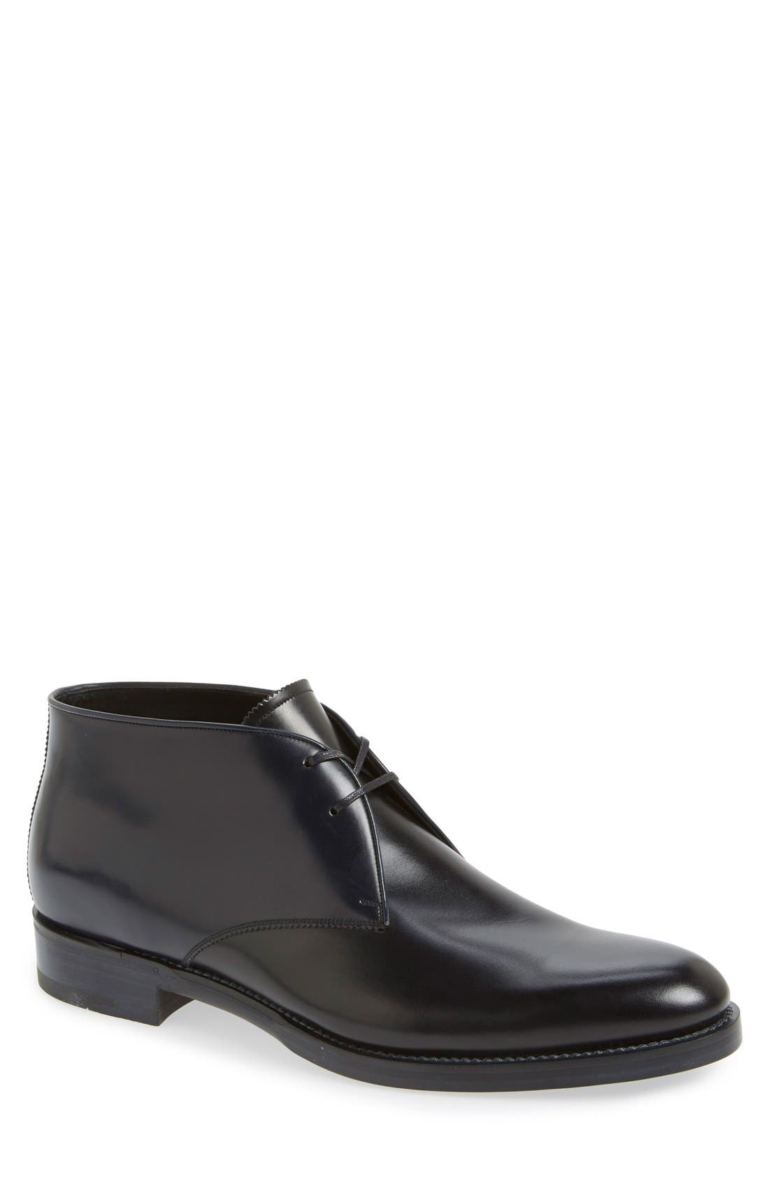 SALVATORE FERRAGAMO 'Georgetown' Chukka Boot, Main, color, 001
