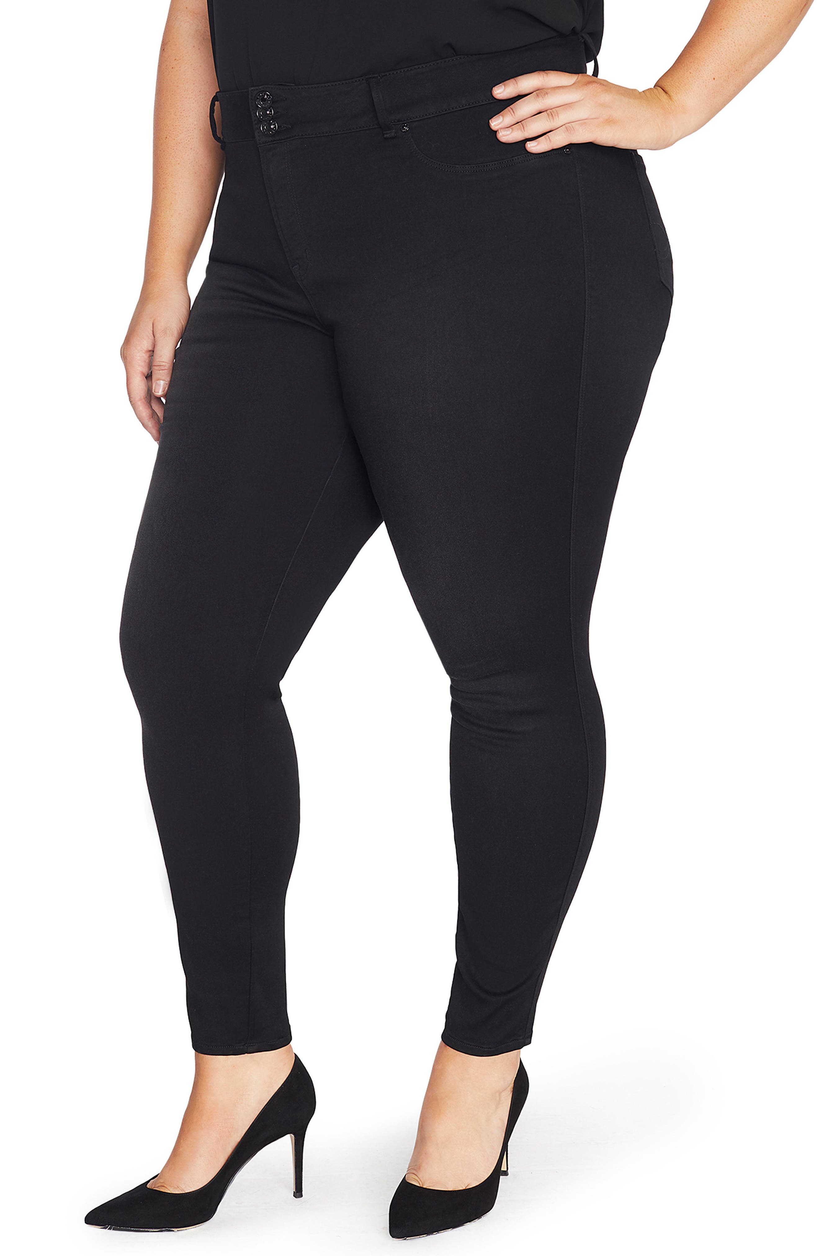The Mogul Mid Rise Super Skinny Jeans,                             Main thumbnail 1, color,                             SUMMIT