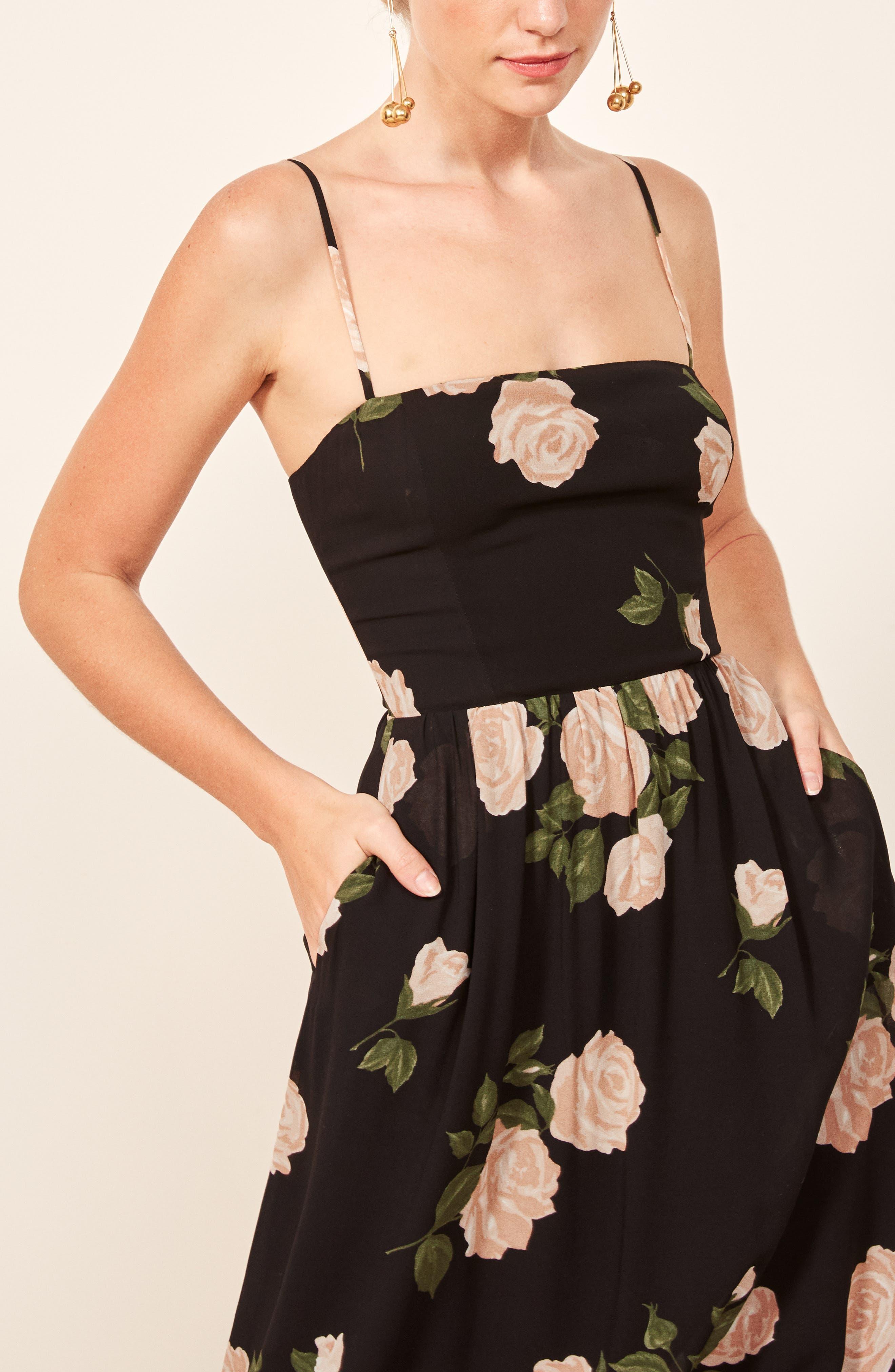 Rosehip Fit & Flare Dress,                             Alternate thumbnail 6, color,                             VENUS