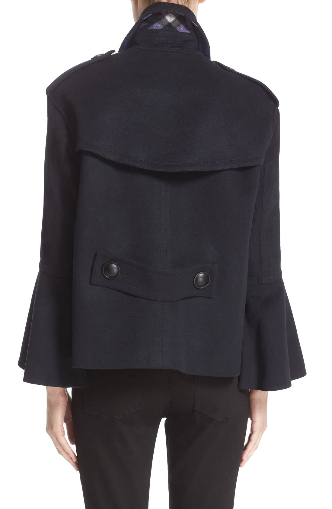 BURBERRY,                             Juliette Townhill Double Breasted Peacoat,                             Alternate thumbnail 4, color,                             410