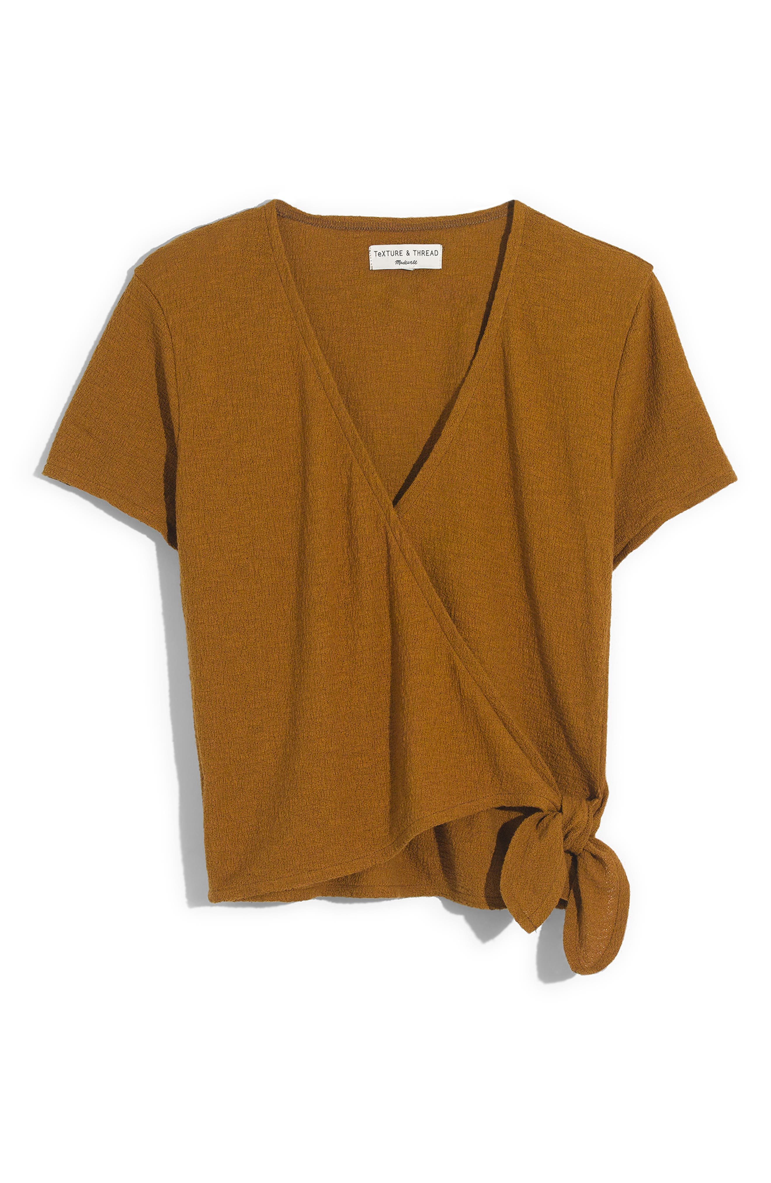 Texture & Thread Wrap Top,                             Alternate thumbnail 6, color,                             300