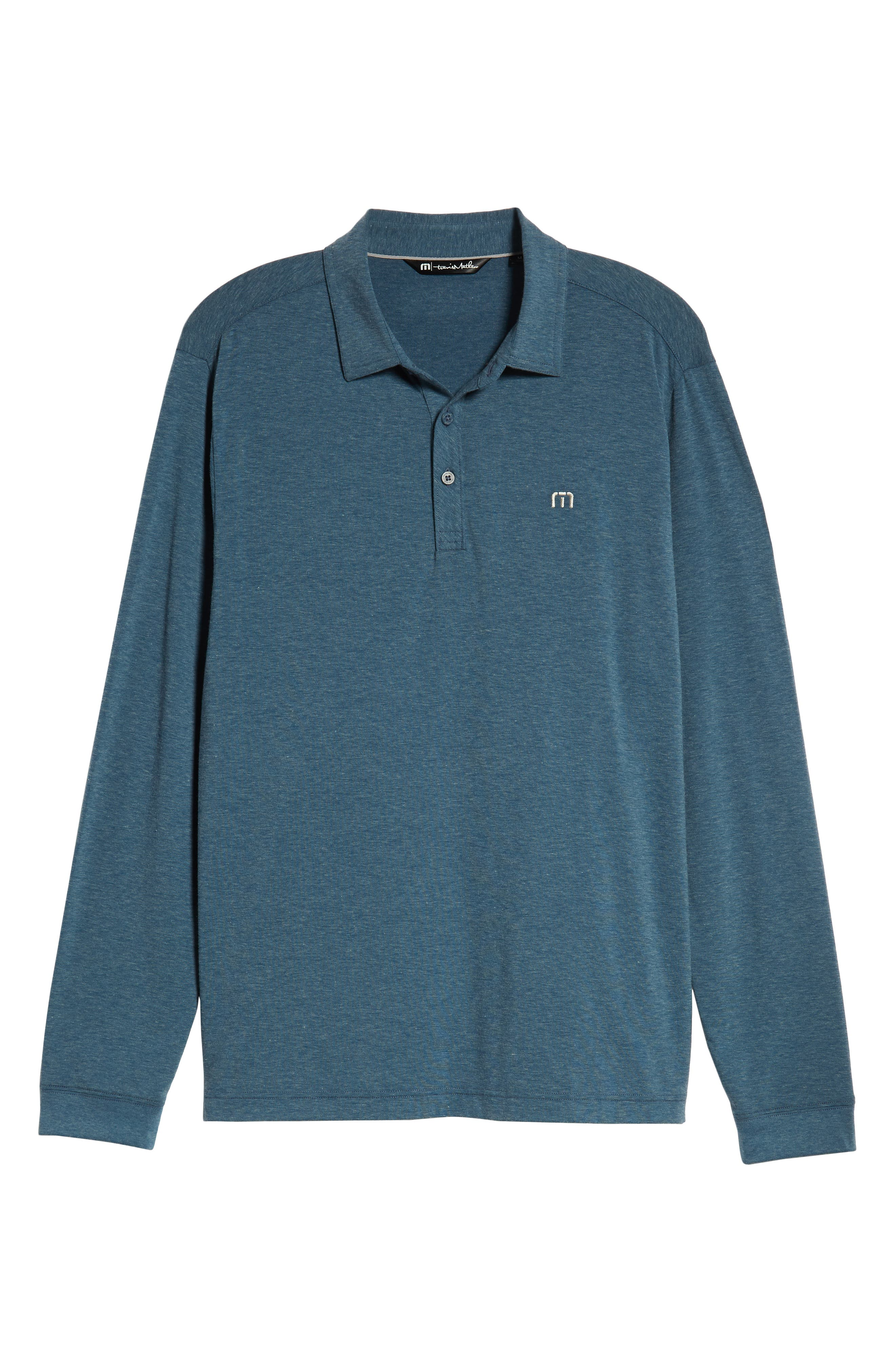 Backup Plan Regular Fit Polo,                             Alternate thumbnail 6, color,                             TRADEWINDS/ BLUE WING TEAL