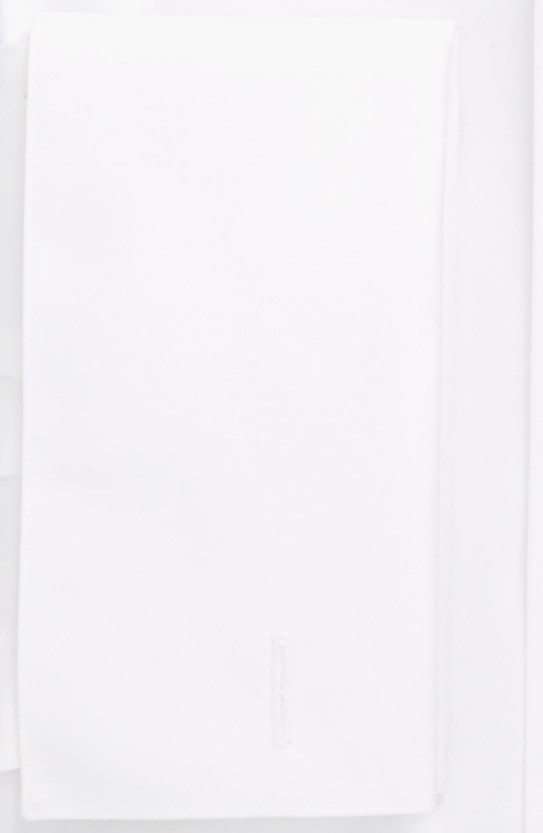 Trim Fit Tuxedo Shirt,                             Alternate thumbnail 3, color,                             WHITE