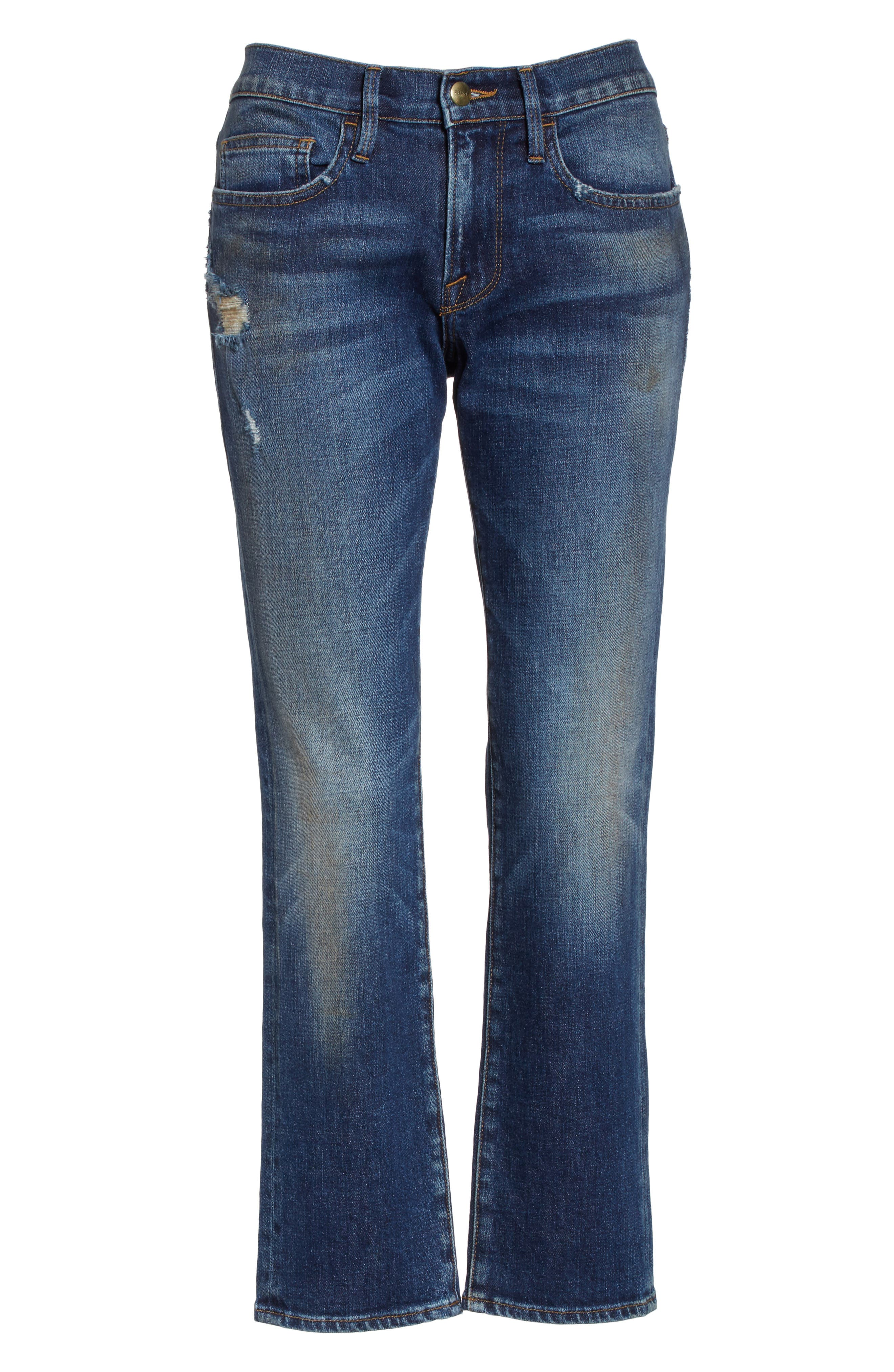 Straight Leg Jeans,                             Alternate thumbnail 7, color,