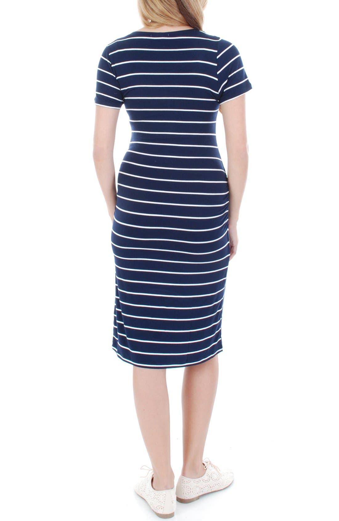 'Camila' Stripe Maternity Dress,                             Alternate thumbnail 2, color,                             461