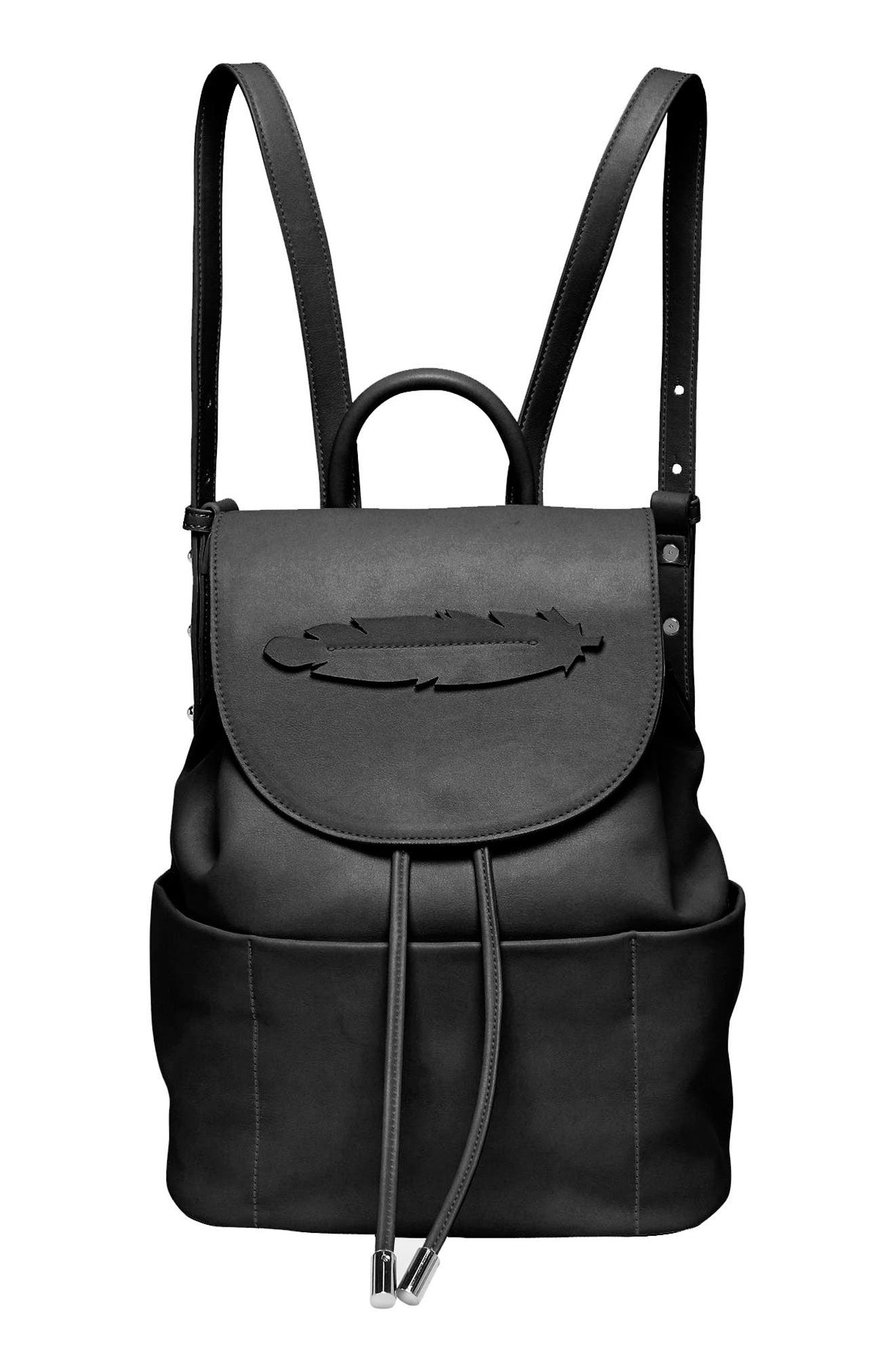 Dream Girl Vegan Leather Backpack,                             Main thumbnail 1, color,                             001