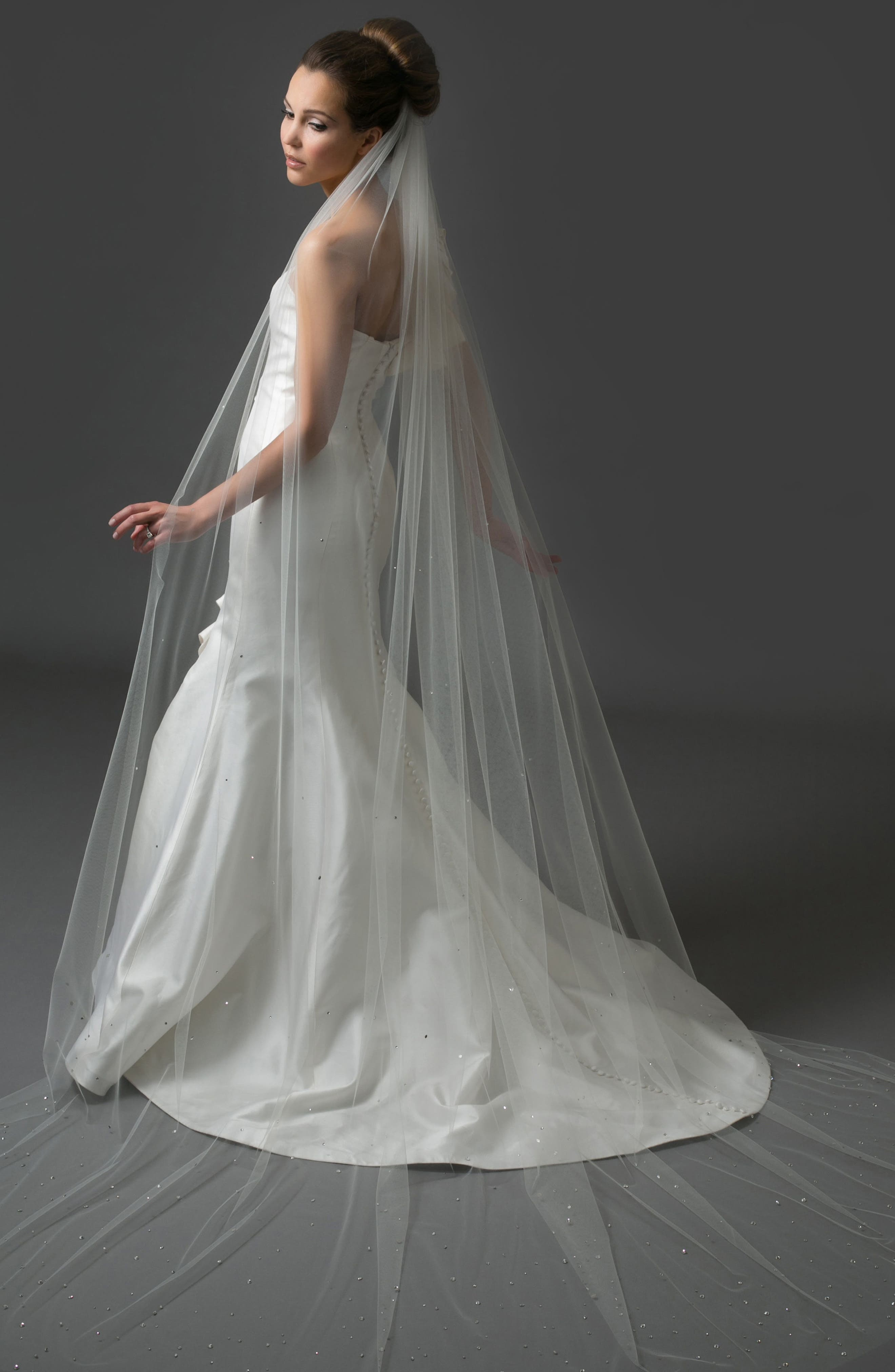 Pageant Chapel Veil,                         Main,                         color, LIGHT IVORY