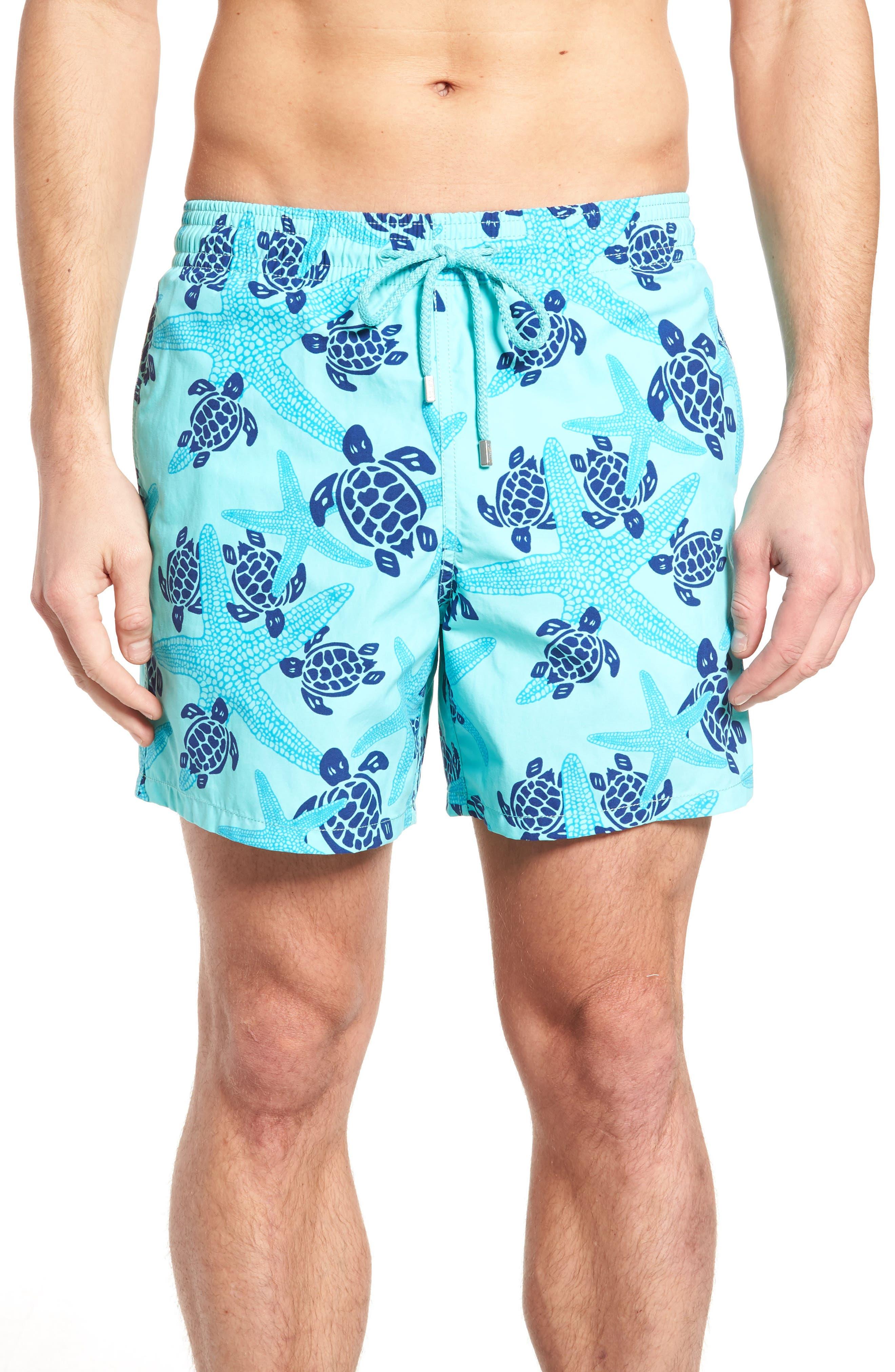 Vilebrequin Starlettes & Turtles Swim Trunks, Blue