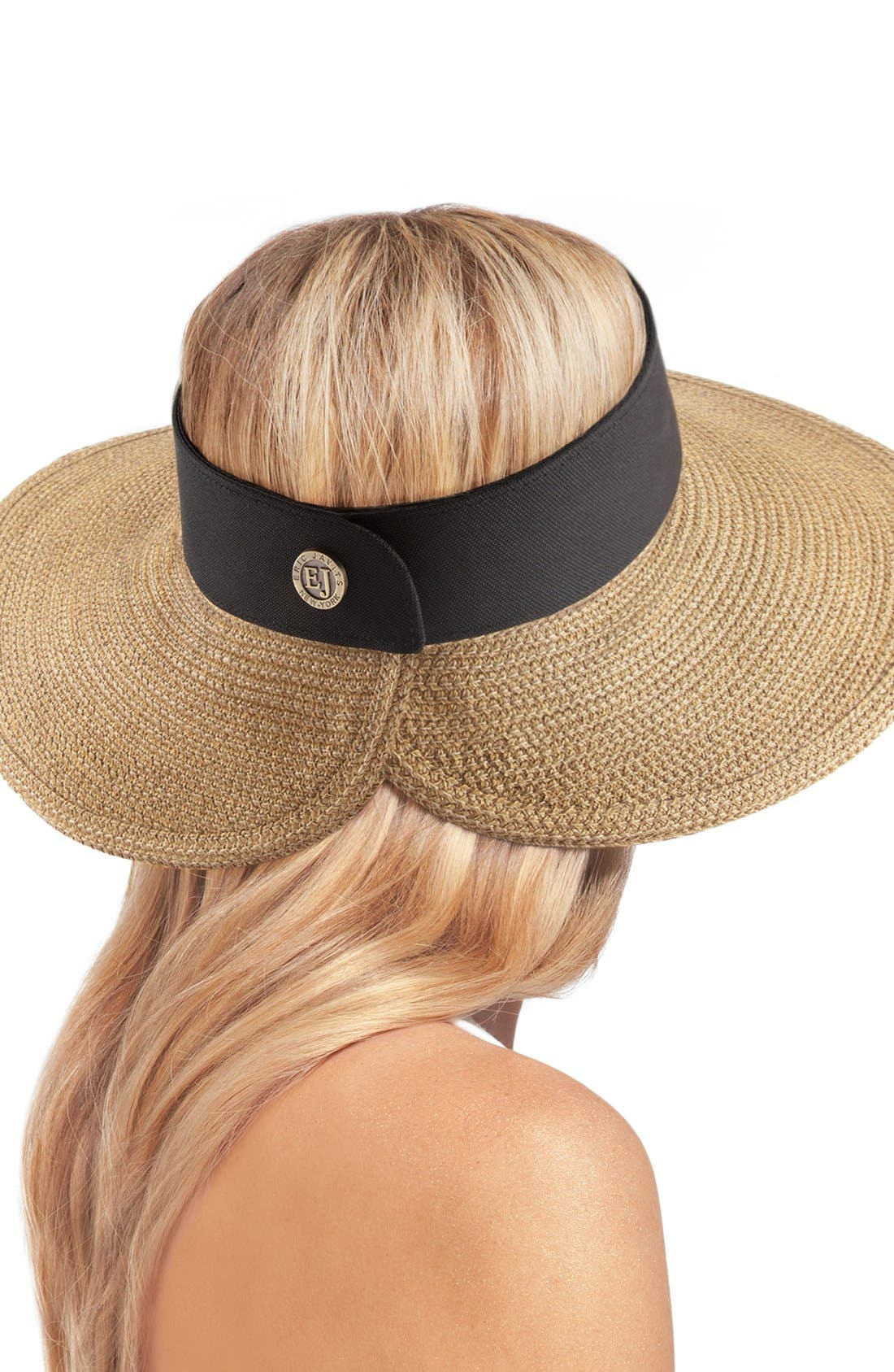 'Squishee<sup>®</sup> Halo' Hat,                             Alternate thumbnail 3, color,                             NATURAL/ BLACK